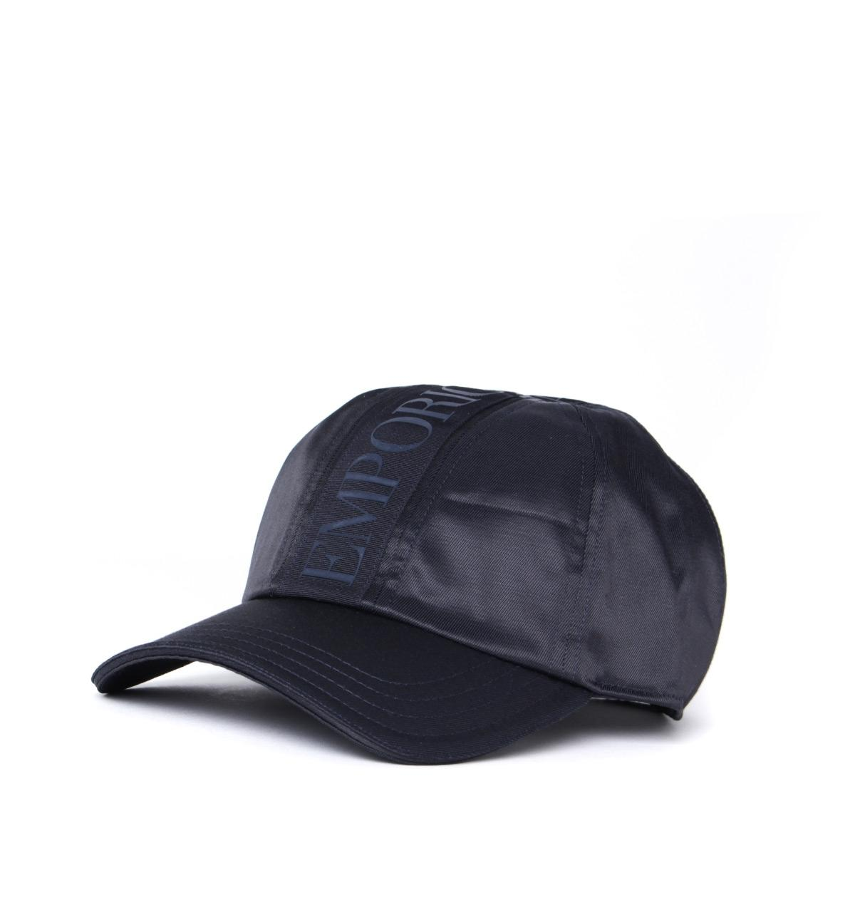 9e6799b6 Lyst - Emporio Armani Tape Logo Navy Cap in Blue for Men