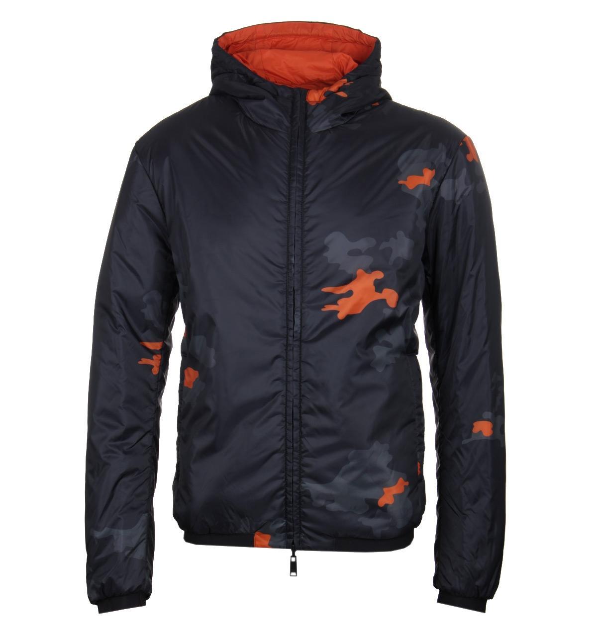 06c7b22b5 Emporio Armani Reversible Camo Black Blouson Jacket in Black for Men ...