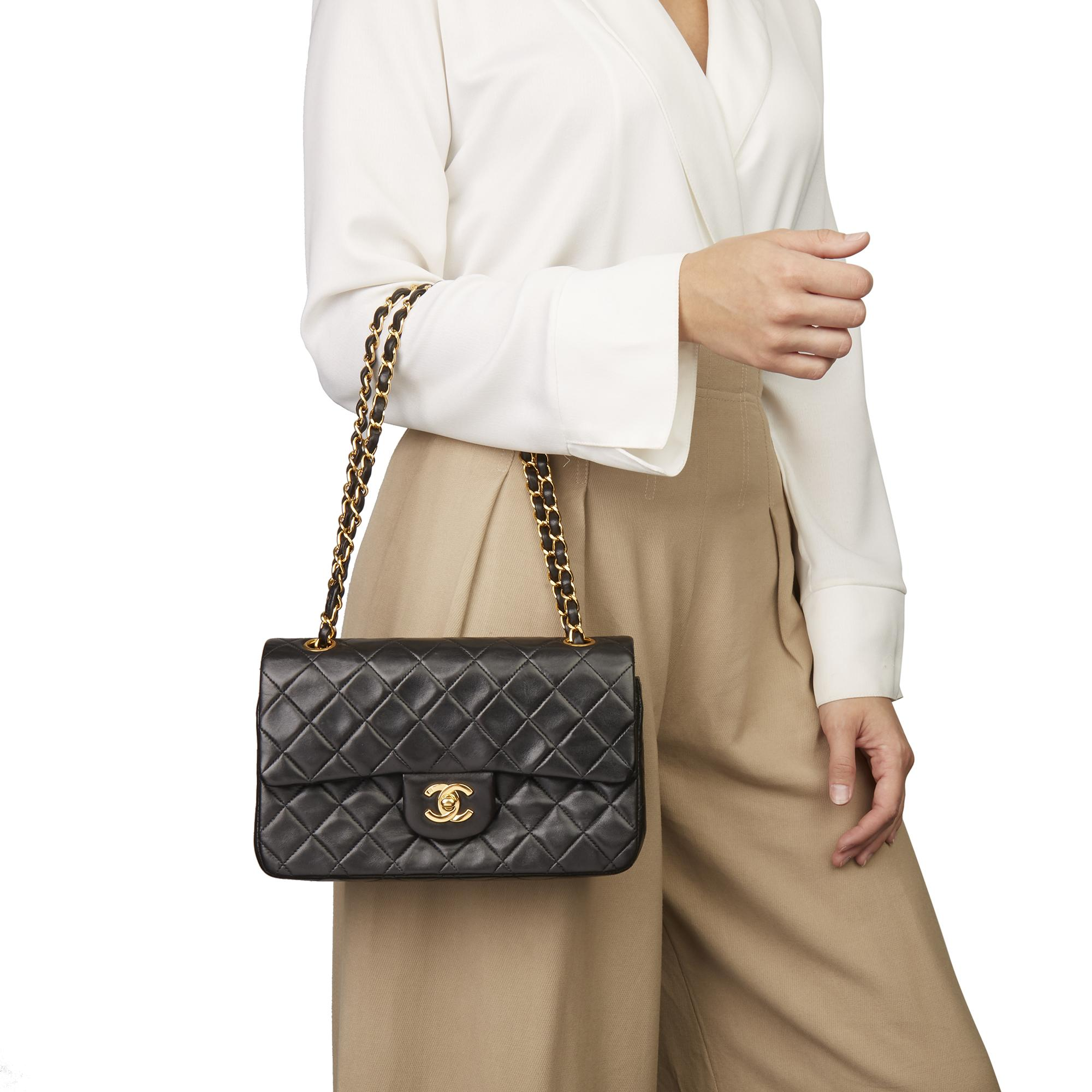 9a789835900a6 Chanel - Multicolor Black Quilted Lambskin Vintage Small Classic Double Flap  Bag - Lyst. View fullscreen