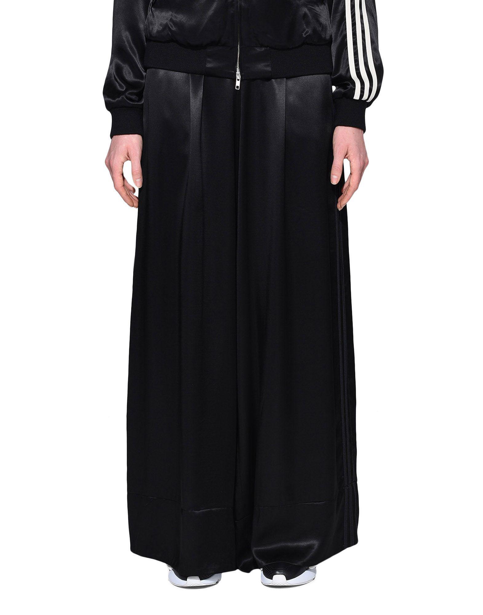 7c18bae9604c2 Y-3 3-stripes Lux Wide Track Pants in Black - Lyst