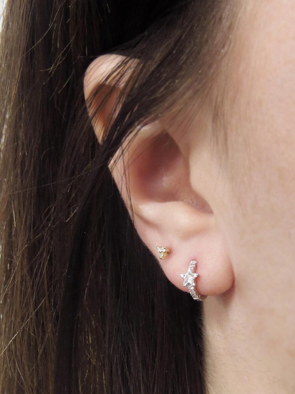 53898a7c4ee627 Maria Tash 6.5mm Diamond Star Eternity Single Hoop Earring in ...