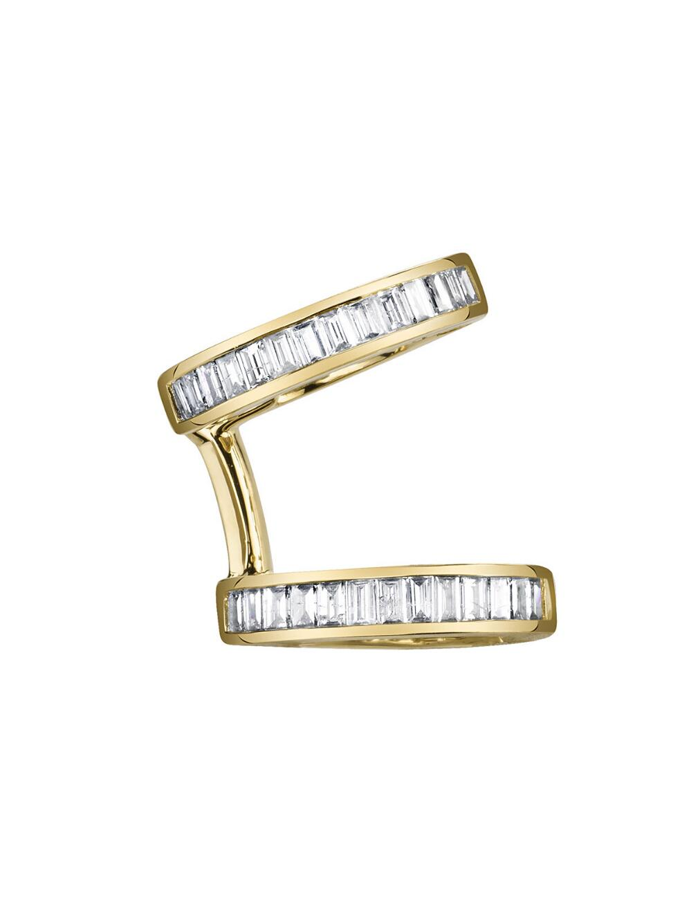 Borgioni Baguette Triple Ear Cuff White Gold