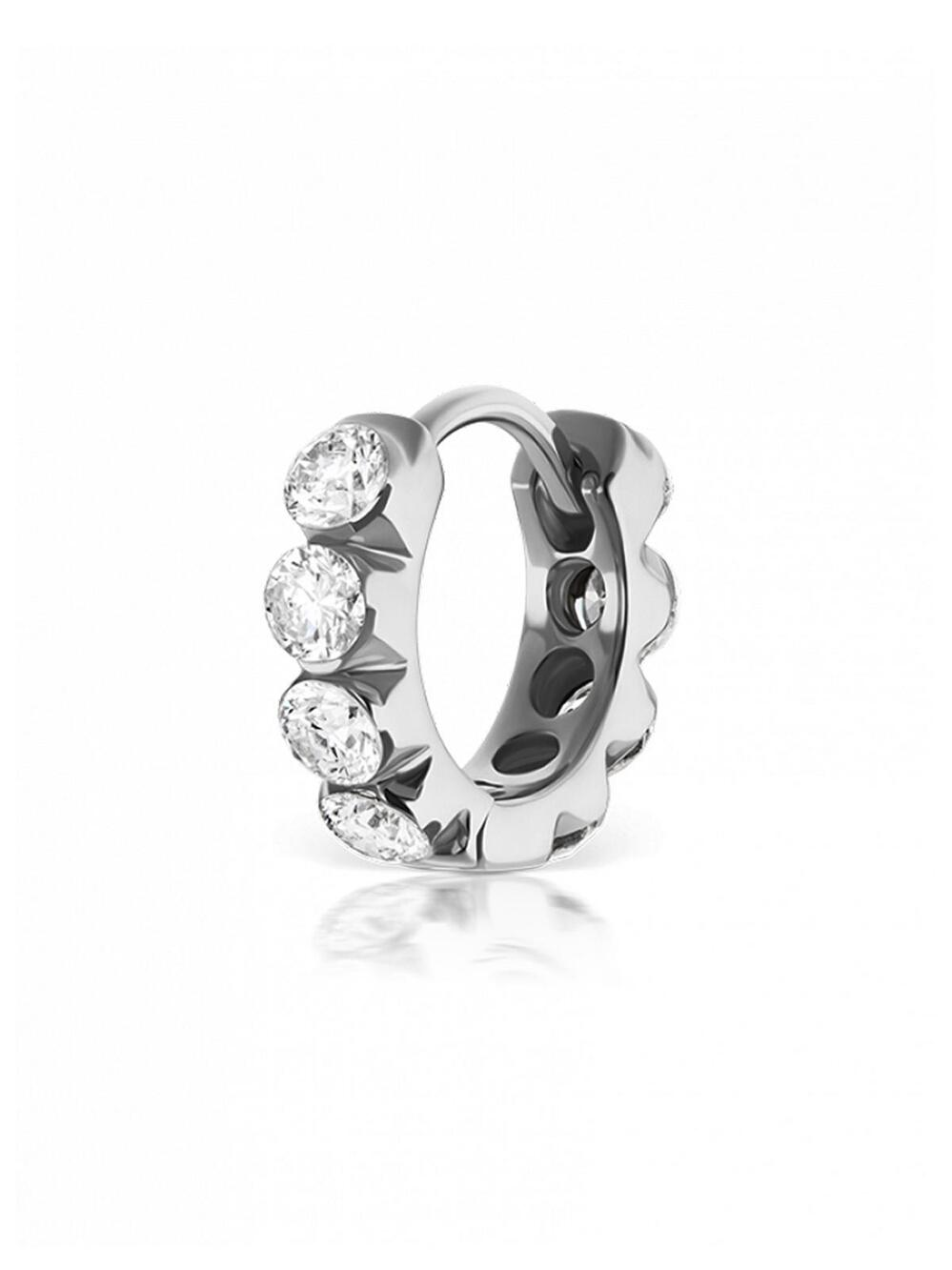 Maria Tash Invisibly Set Diamond Eternity Ring 18kt gold and diamond earring 1l7GyNgWIv