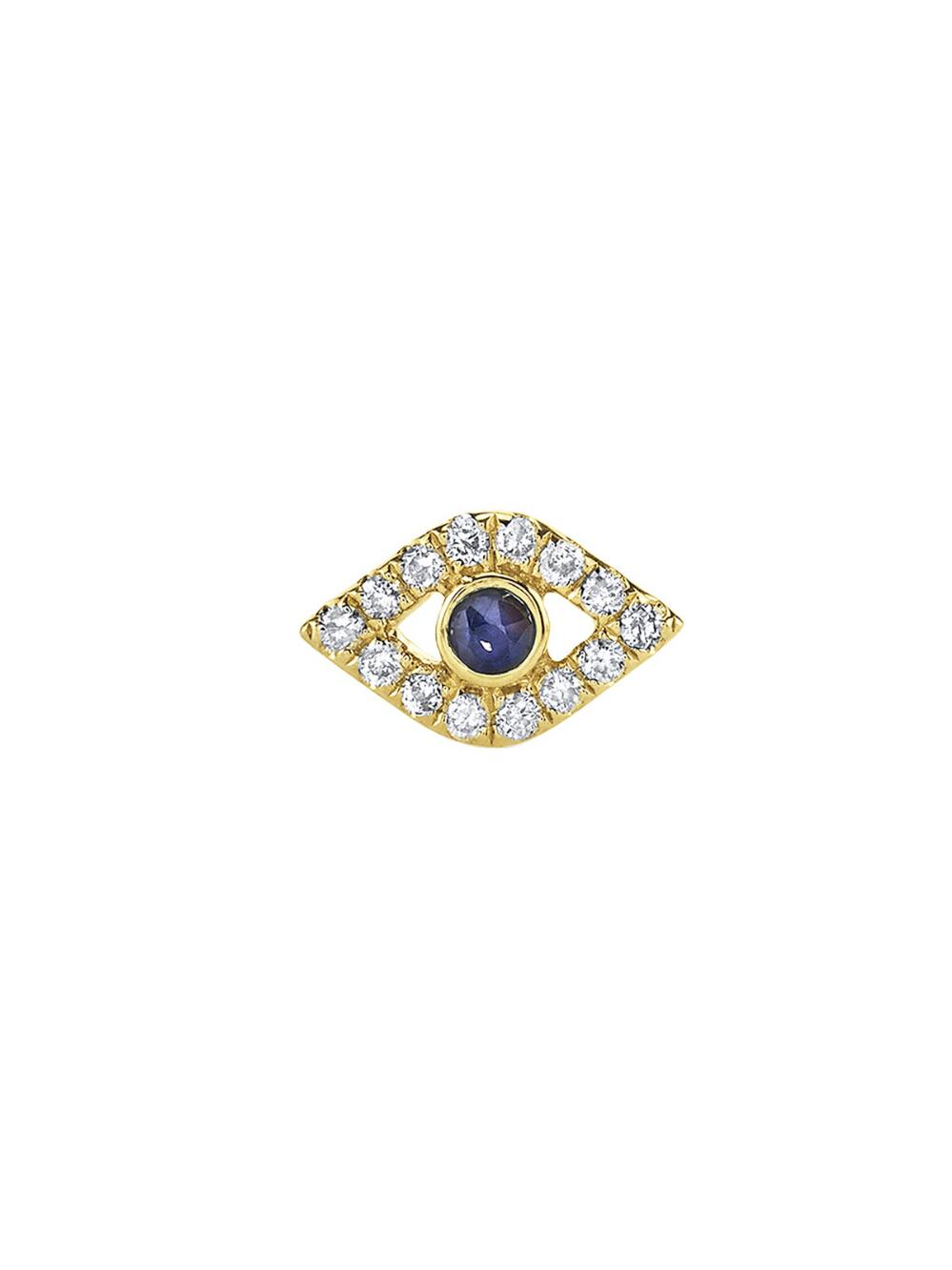 Sydney Evan Single Mini Bezel Evil Eye Stud with Diamonds vgJAVg