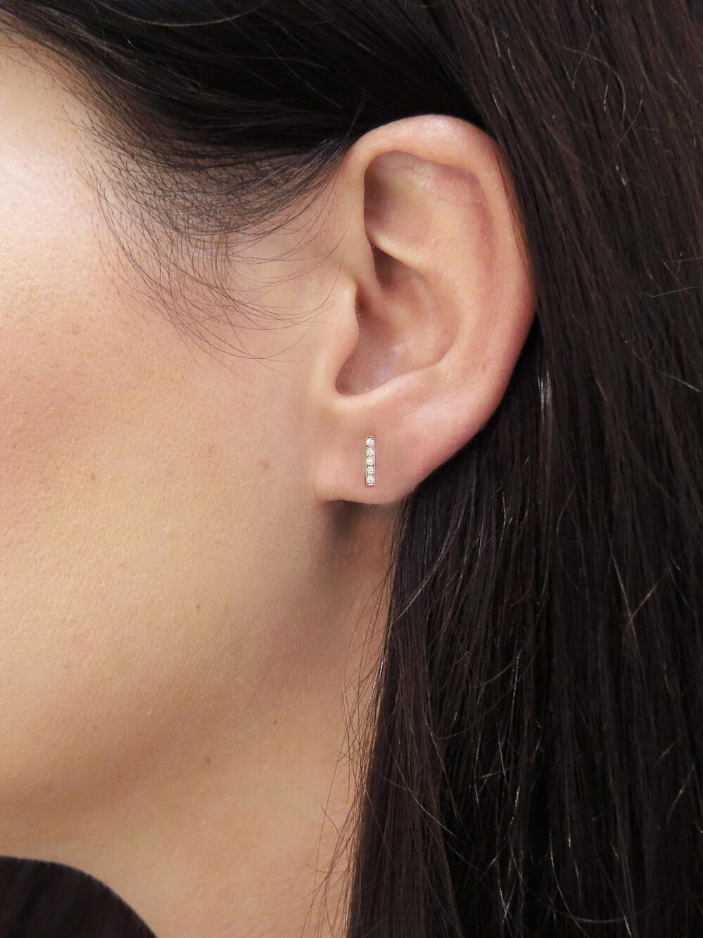 Jennifer Meyer Multicolor Diamond Bar Stud Earrings Lyst View Fullscreen