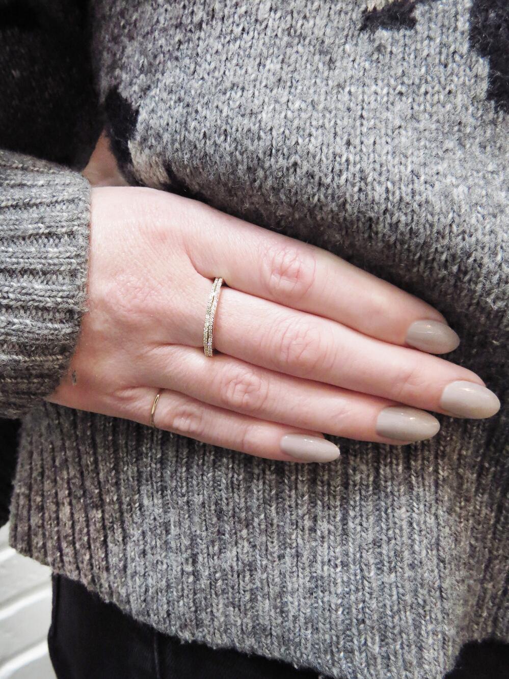 Lyst - Raphaele Canot Diamond Happy Deco Ring