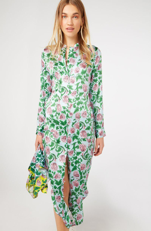 Yolke - Multicolor Marianne Sky Silk Shirt Dress - Lyst. View fullscreen bf7197031