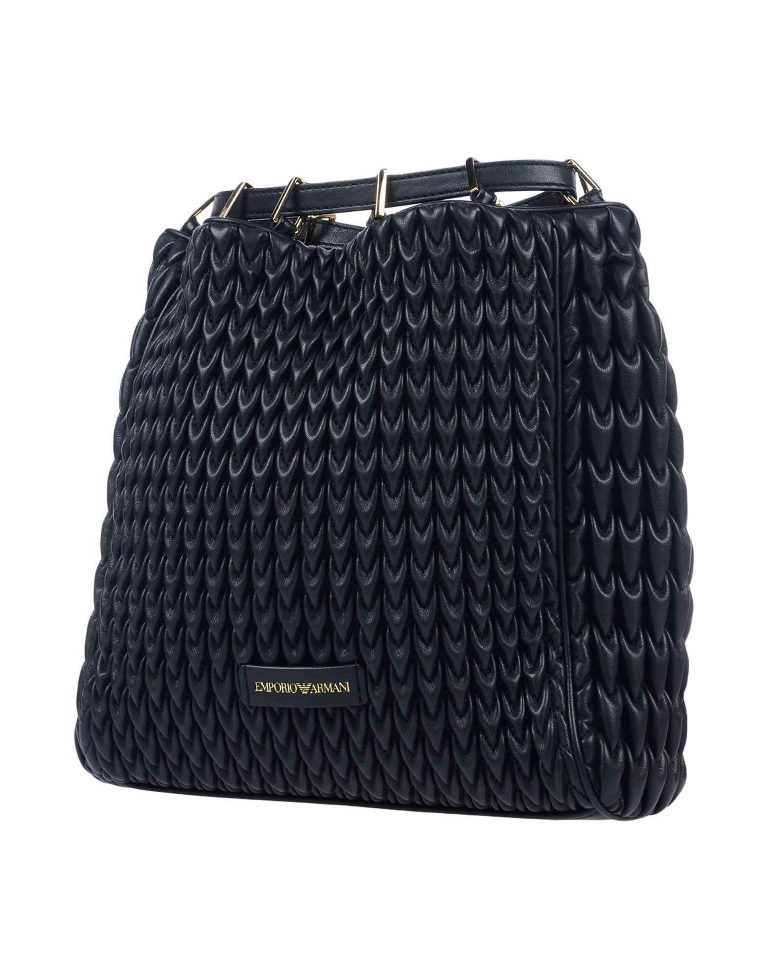 Emporio Armani - Black Backpacks   Bum Bags - Lyst. View fullscreen 3bc801286b4d5