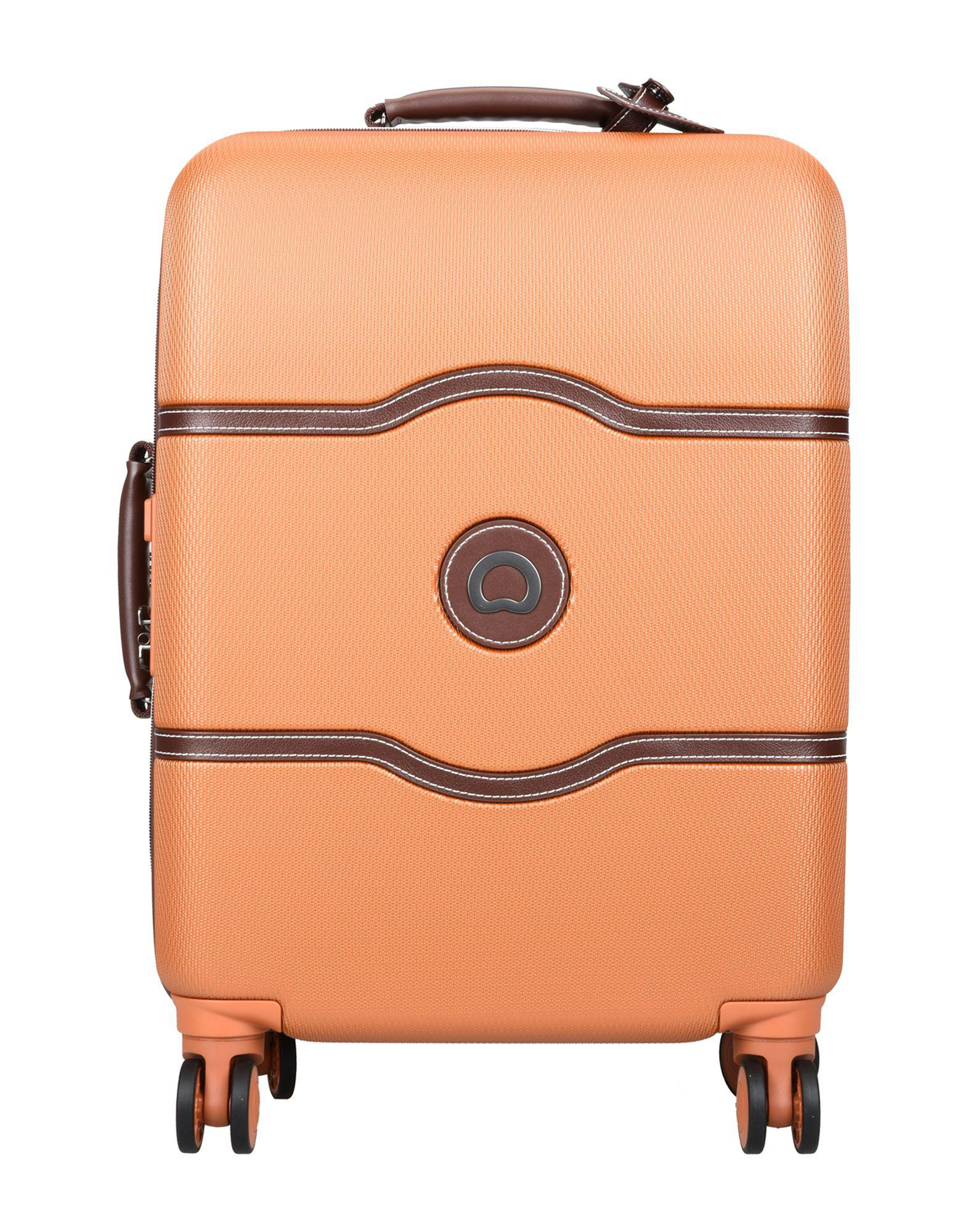 2c5f7f487 Delsey Wheeled luggage in Orange for Men - Lyst