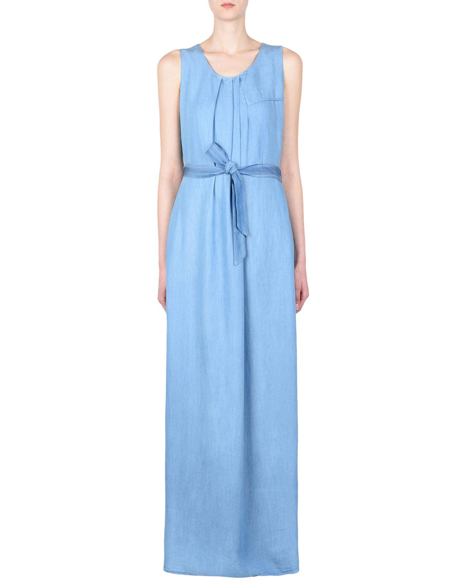 fdd89194edf Lyst - Robe longue Armani Jeans en coloris Bleu
