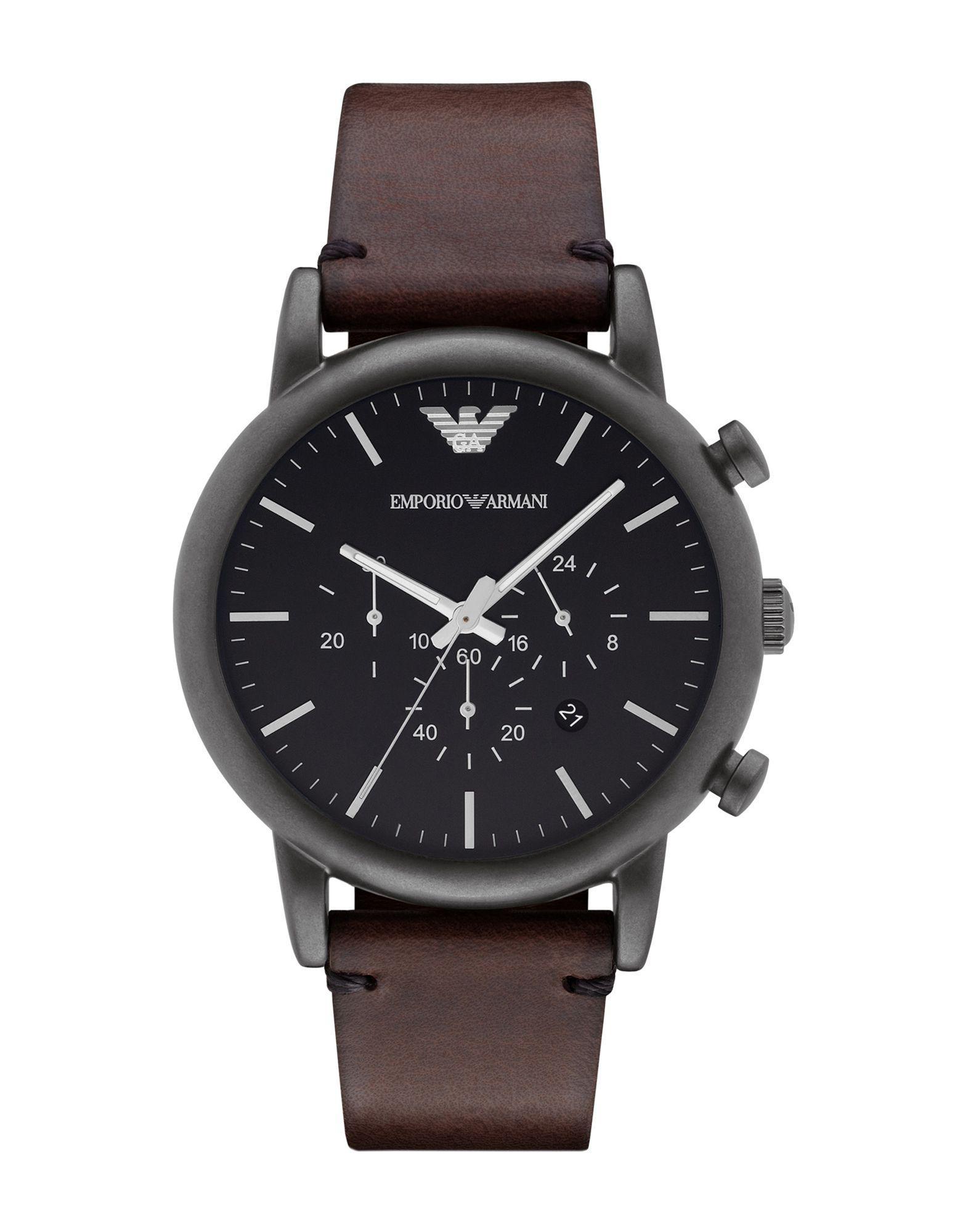 0d5707ed870f Reloj de pulsera Emporio Armani de hombre de color Marrón - Lyst