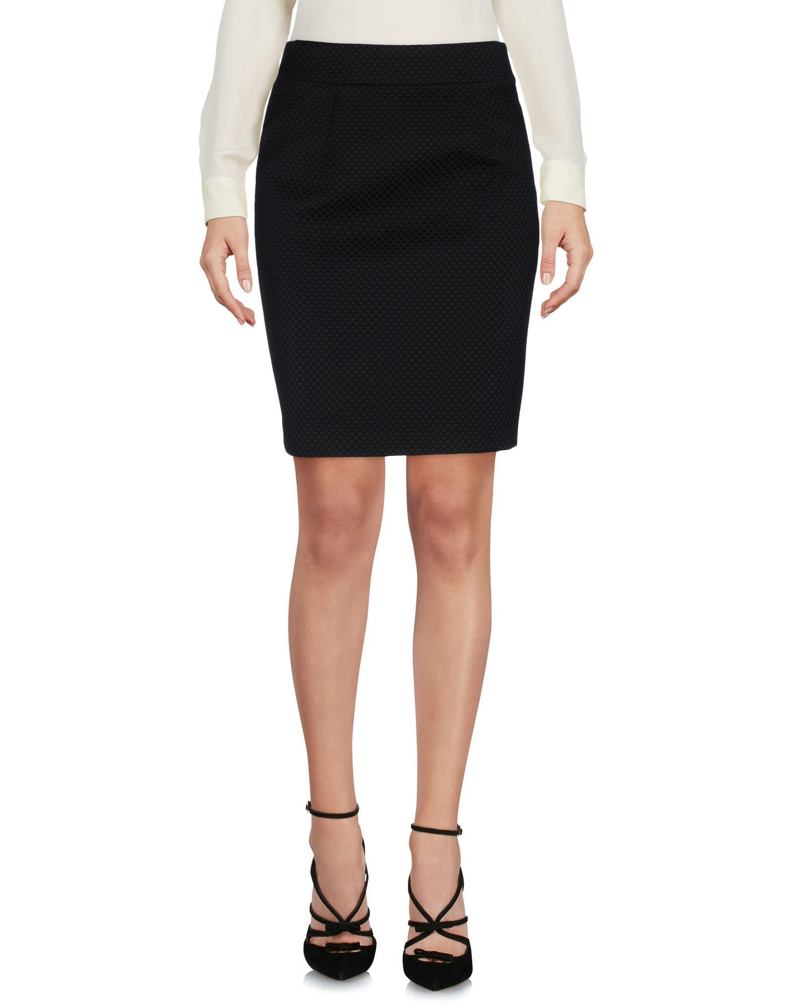 f70d3bc2ca Love Moschino Knee Length Skirt in Black - Lyst