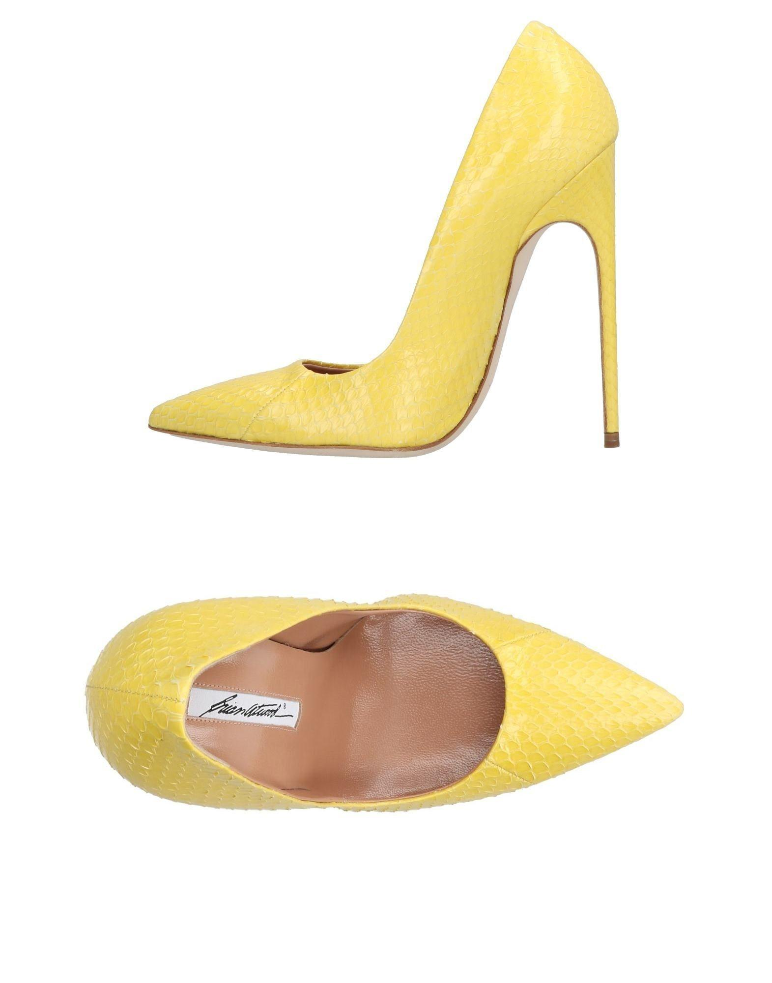 Lyst Brian Atwood Pump In Yellow