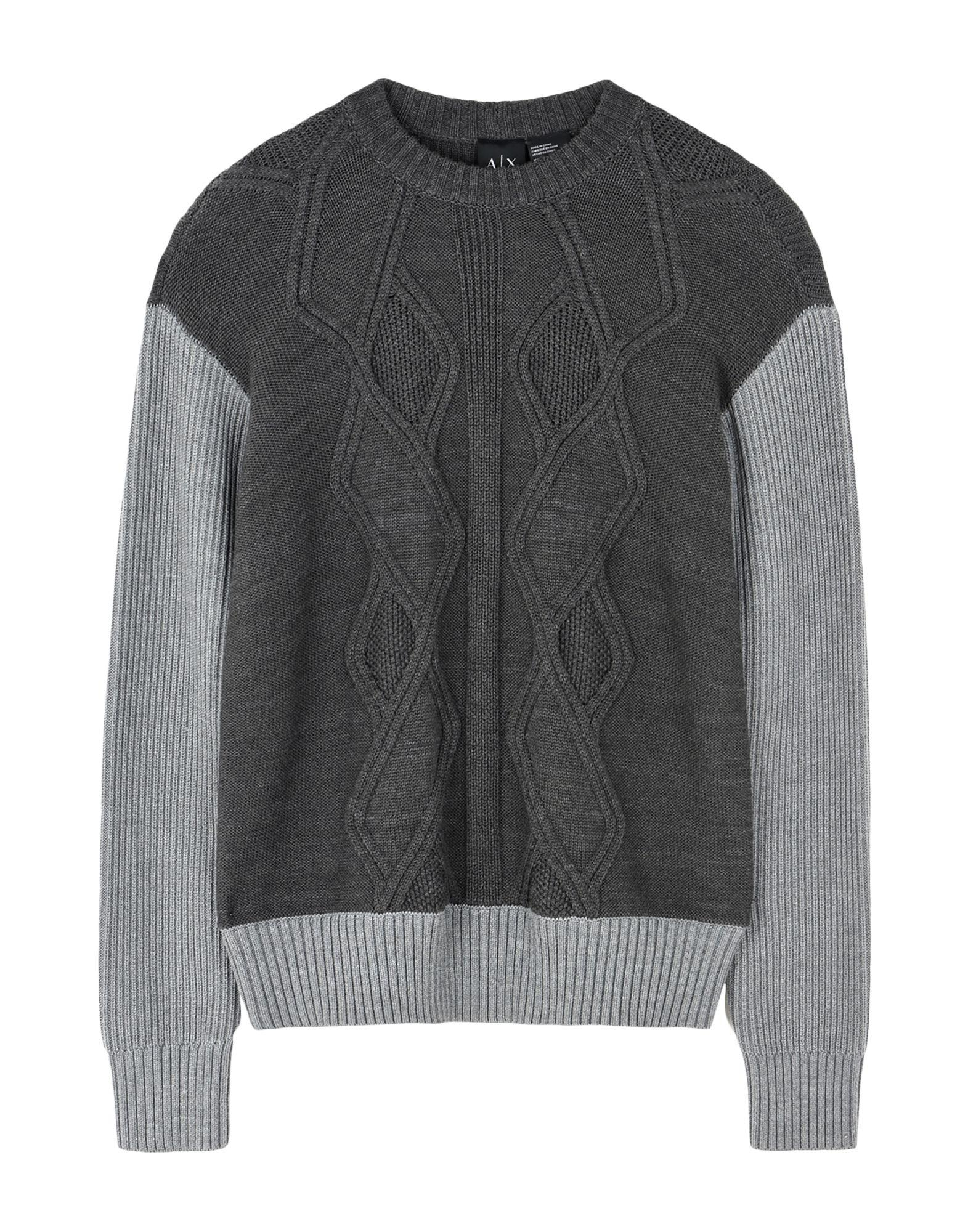 ac8249d900032 Armani Exchange Sweater in Gray for Men - Lyst
