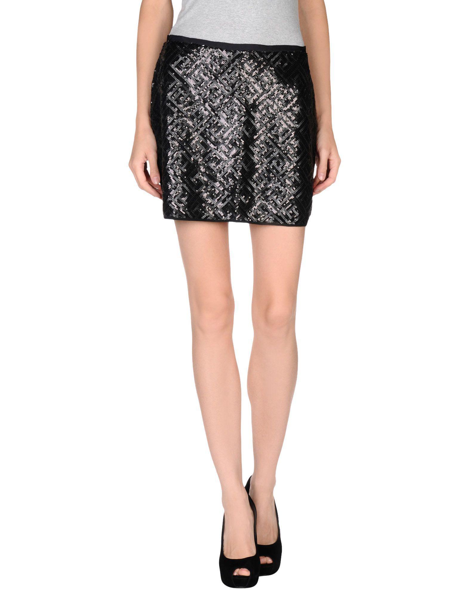 Stefanel Synthetic Mini Skirt In Black Lyst
