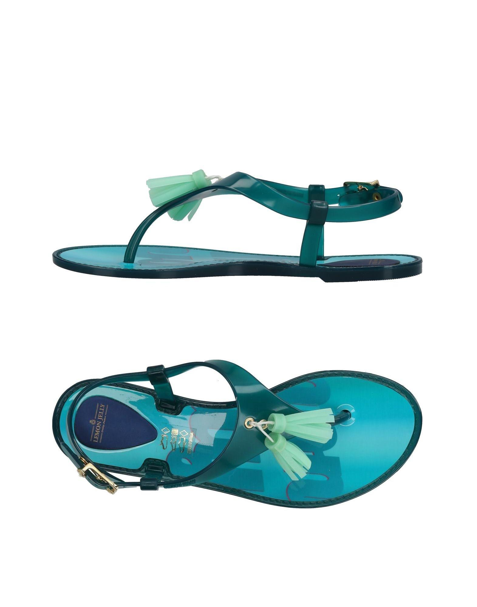c1aa4680d50ec Lyst - Lemon Jelly Toe Strap Sandal in Blue