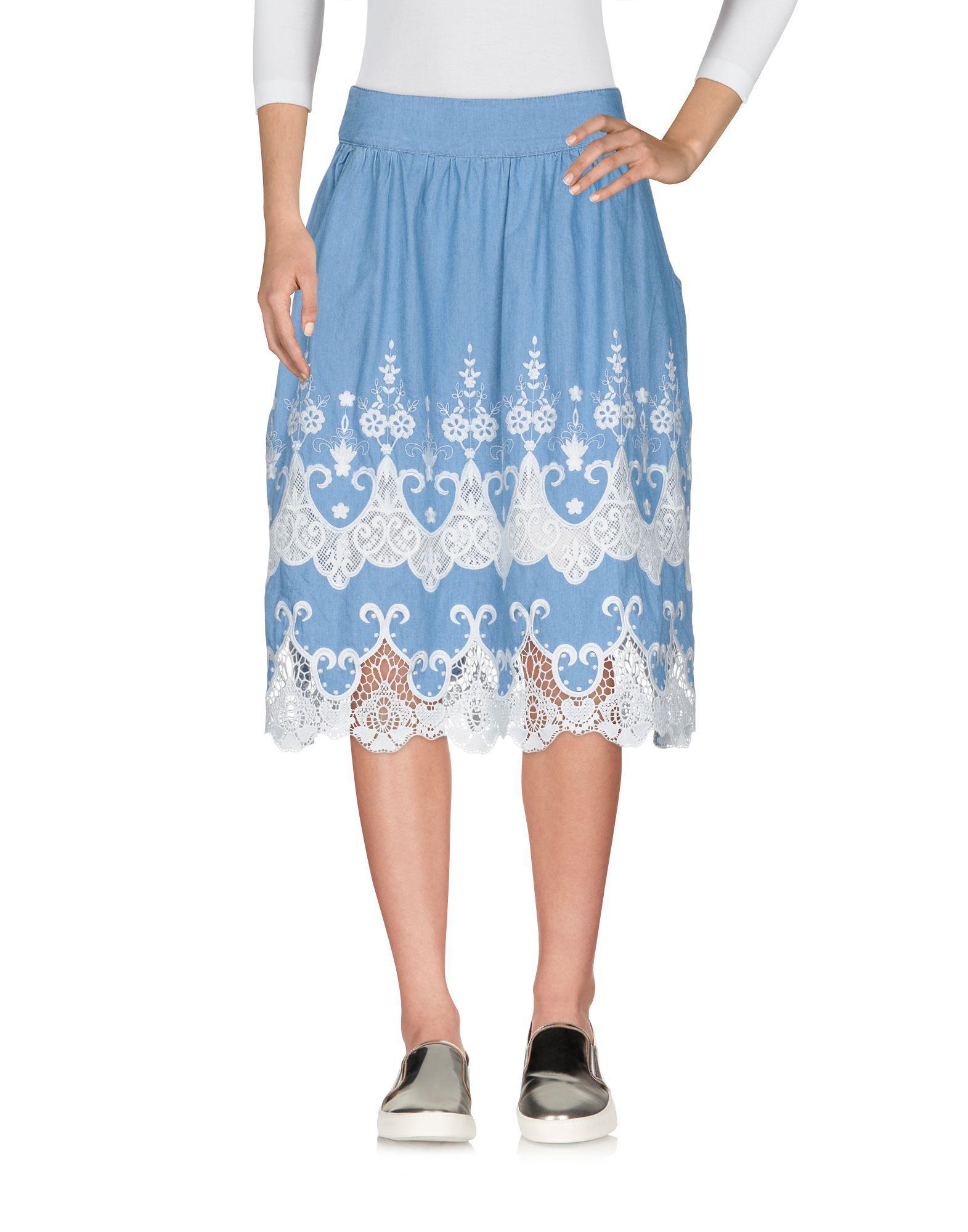 edd672b546 Desigual Denim Skirt in Blue - Lyst