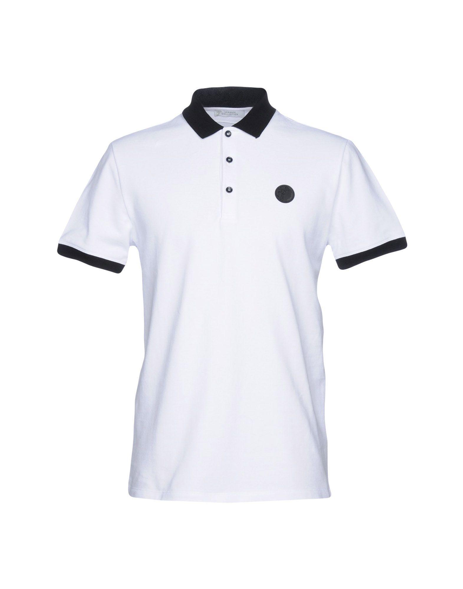 fe118d4d Versace Polo Shirt in White for Men - Lyst
