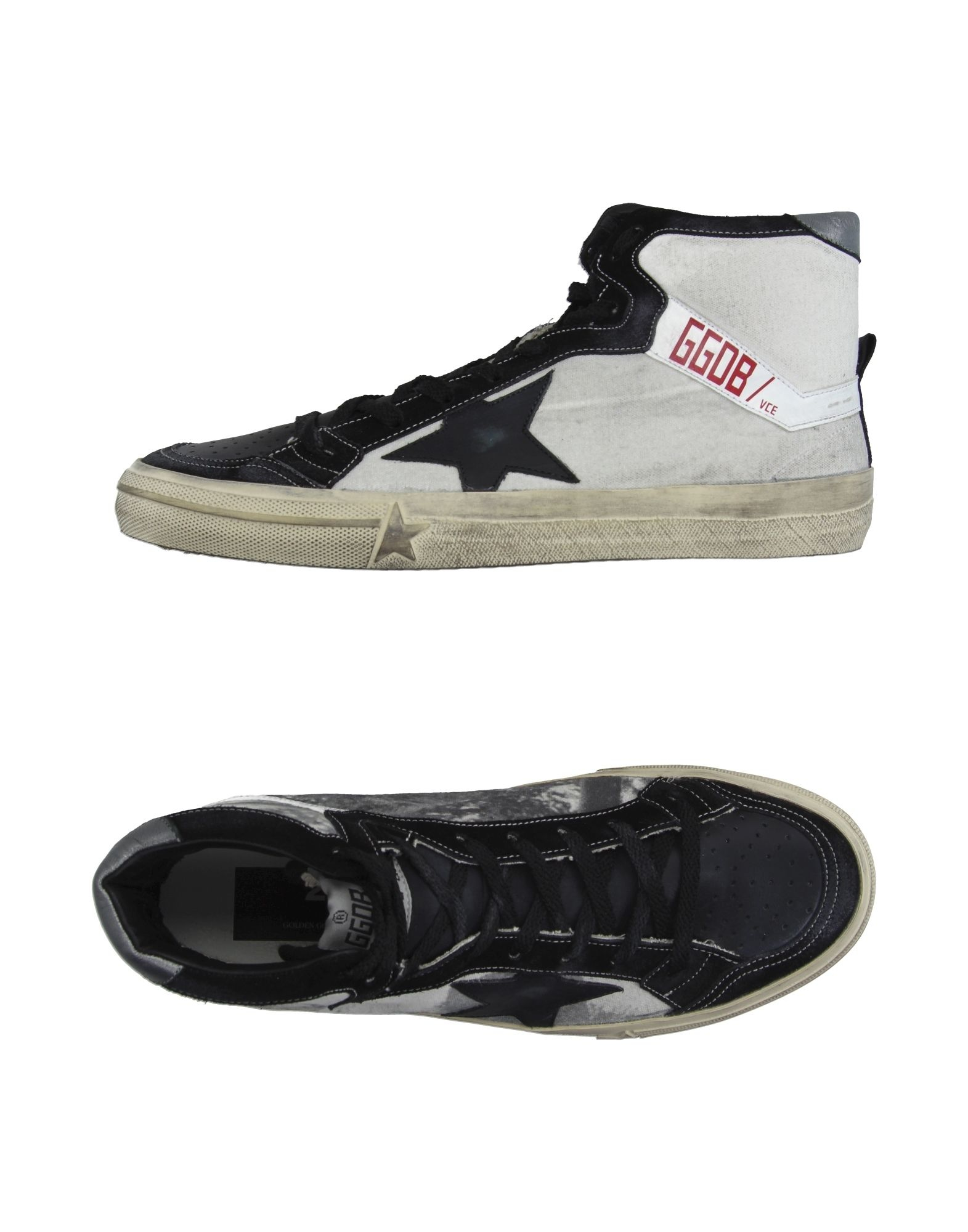 golden goose deluxe brand high tops trainers in white black lyst. Black Bedroom Furniture Sets. Home Design Ideas