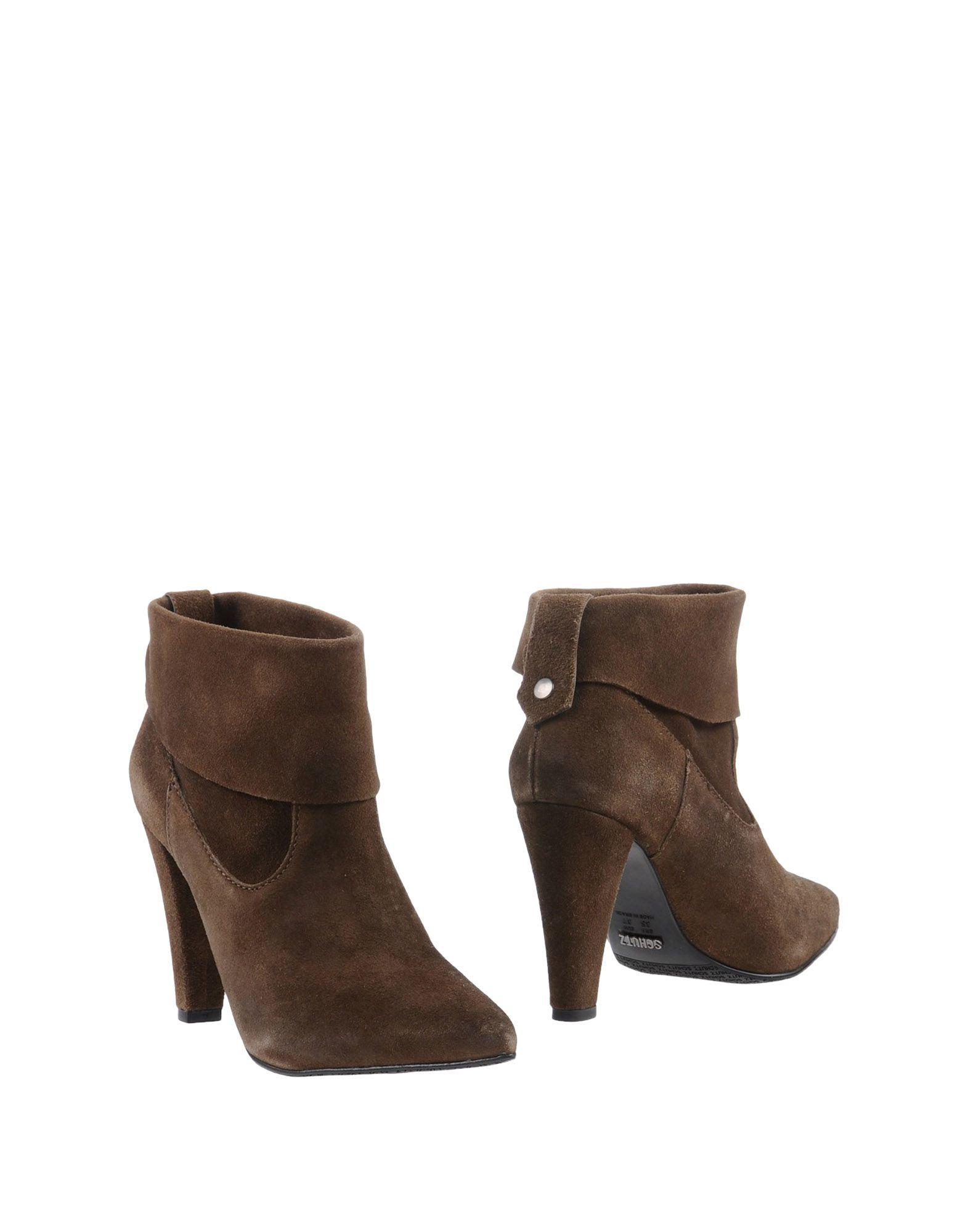 schutz ankle boots in khaki lyst