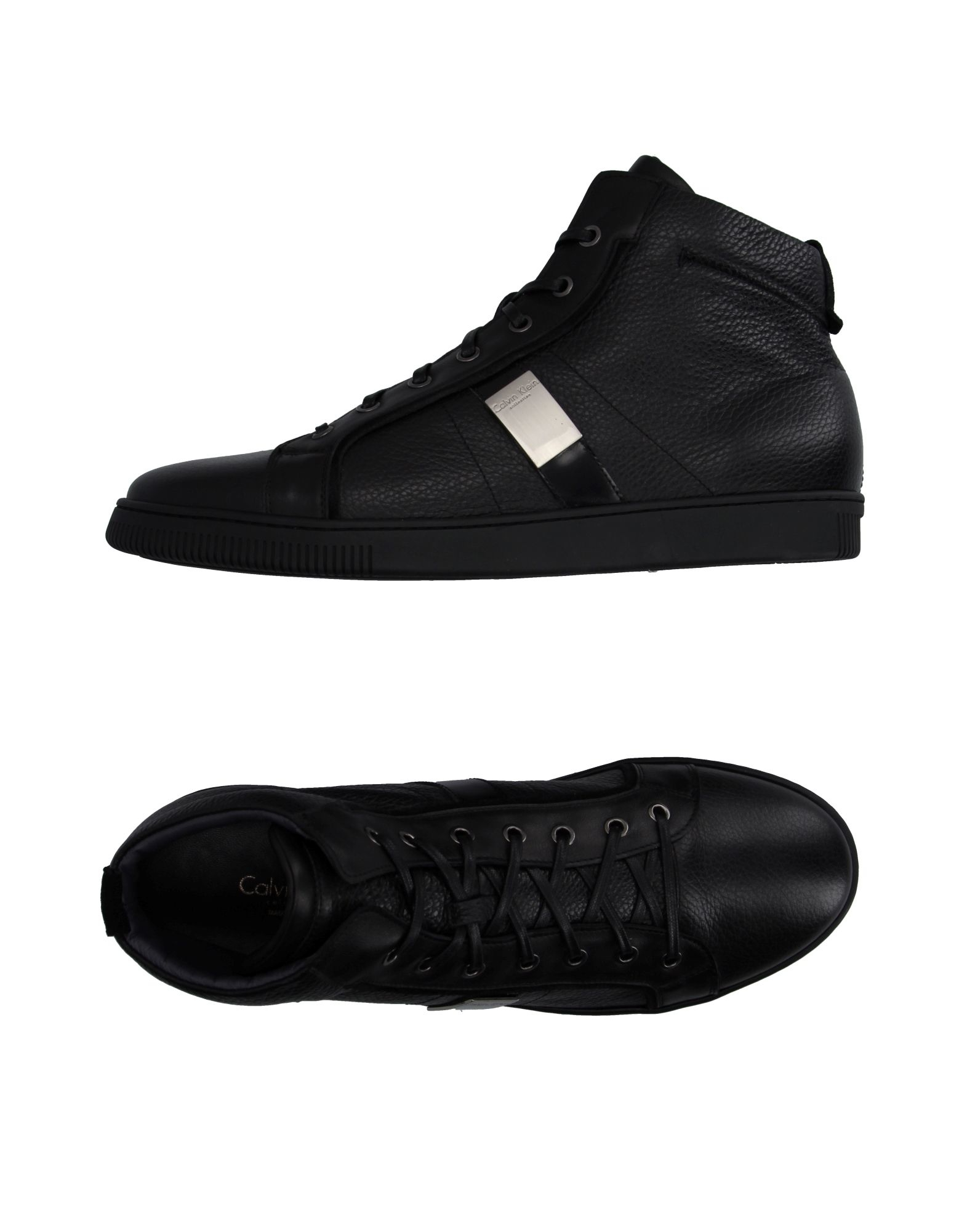calvin klein high tops trainers in black for men lyst. Black Bedroom Furniture Sets. Home Design Ideas