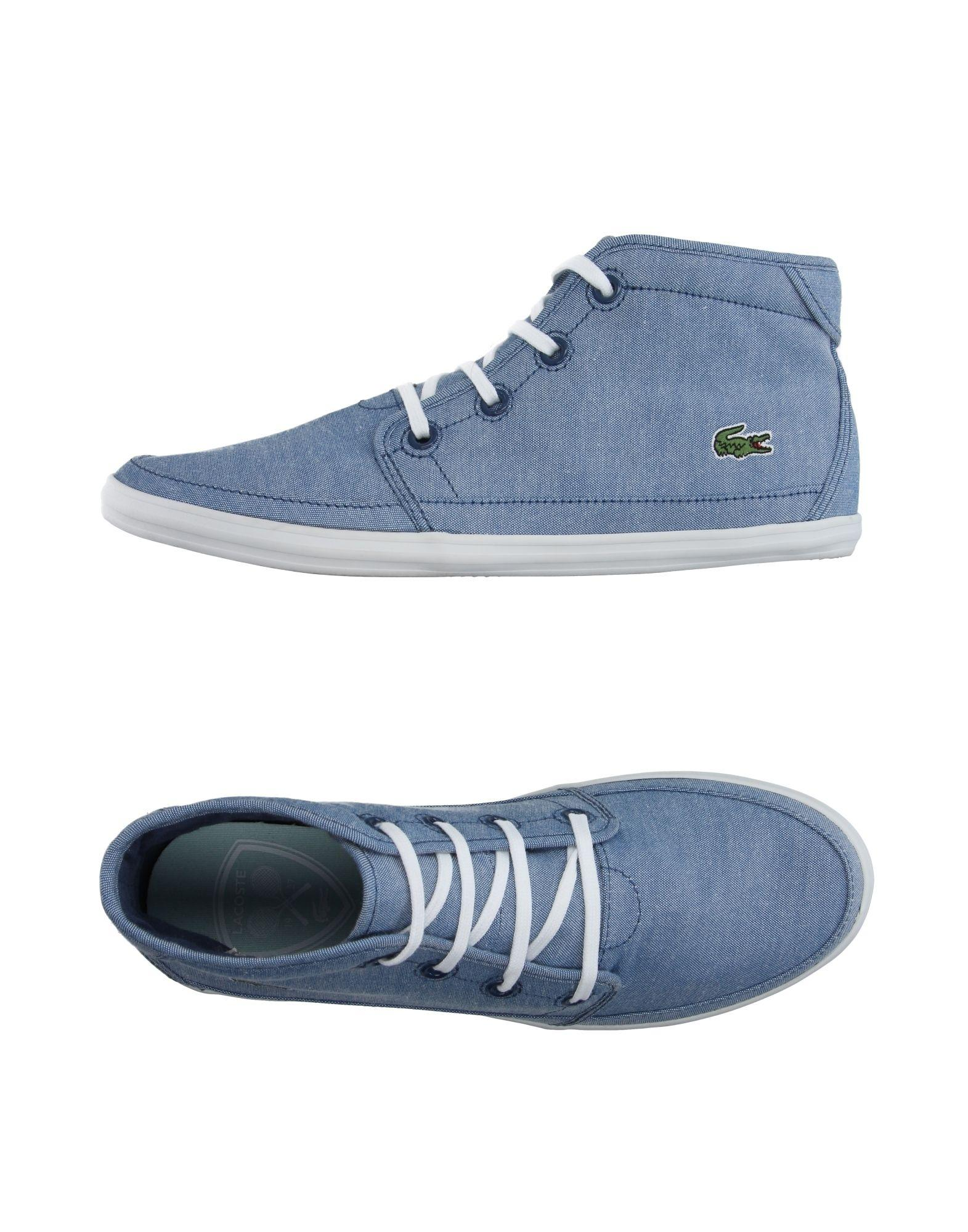 lacoste hightops amp sneakers in blue lyst