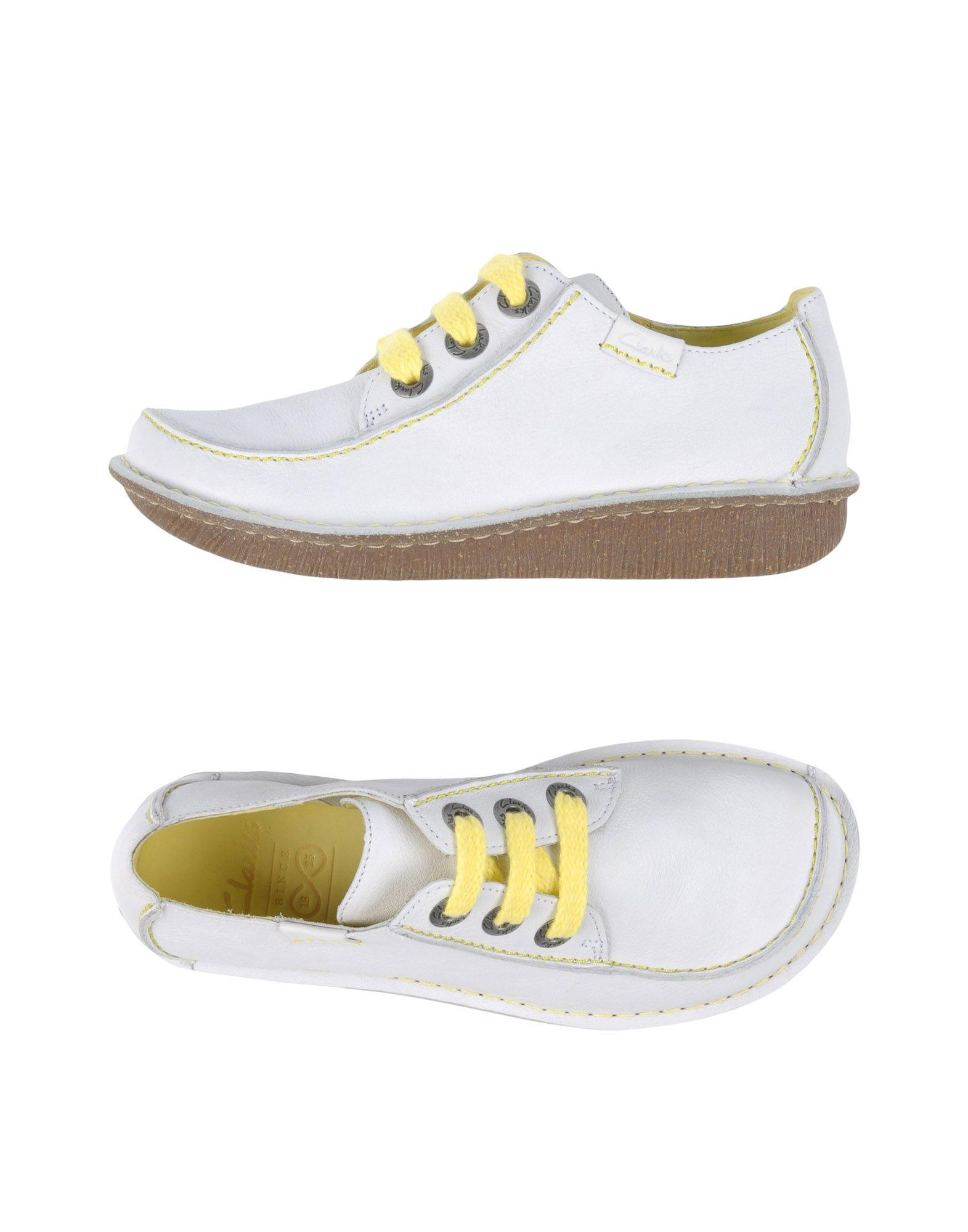 clarks lace up shoes in white lyst