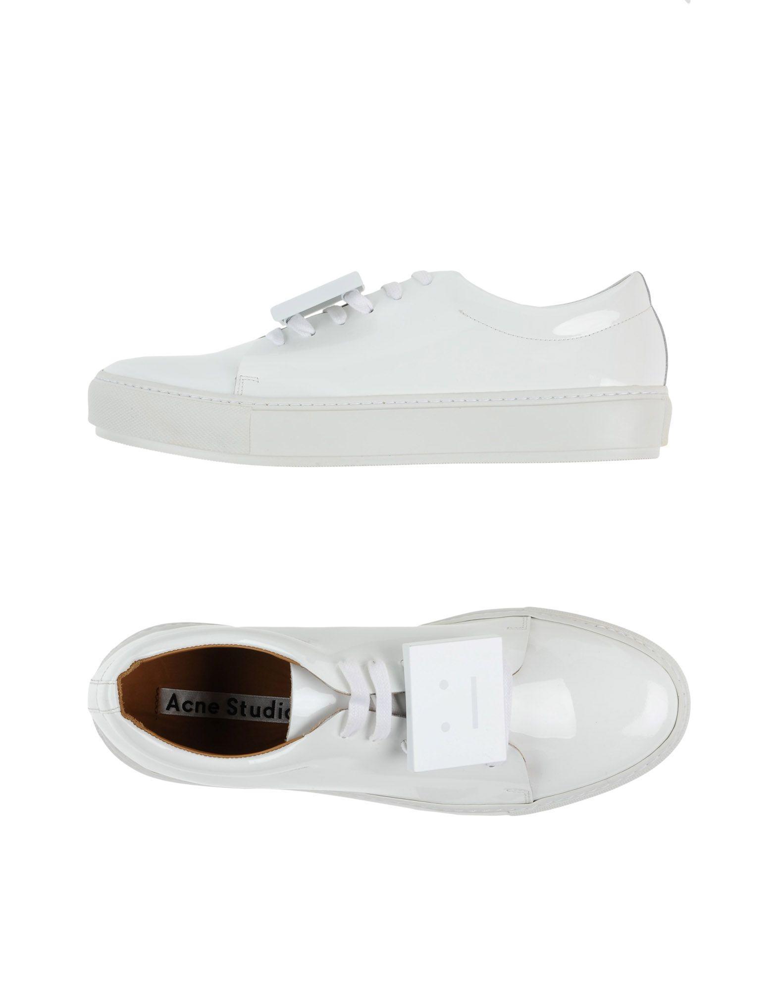 acne studios low tops sneakers in white lyst