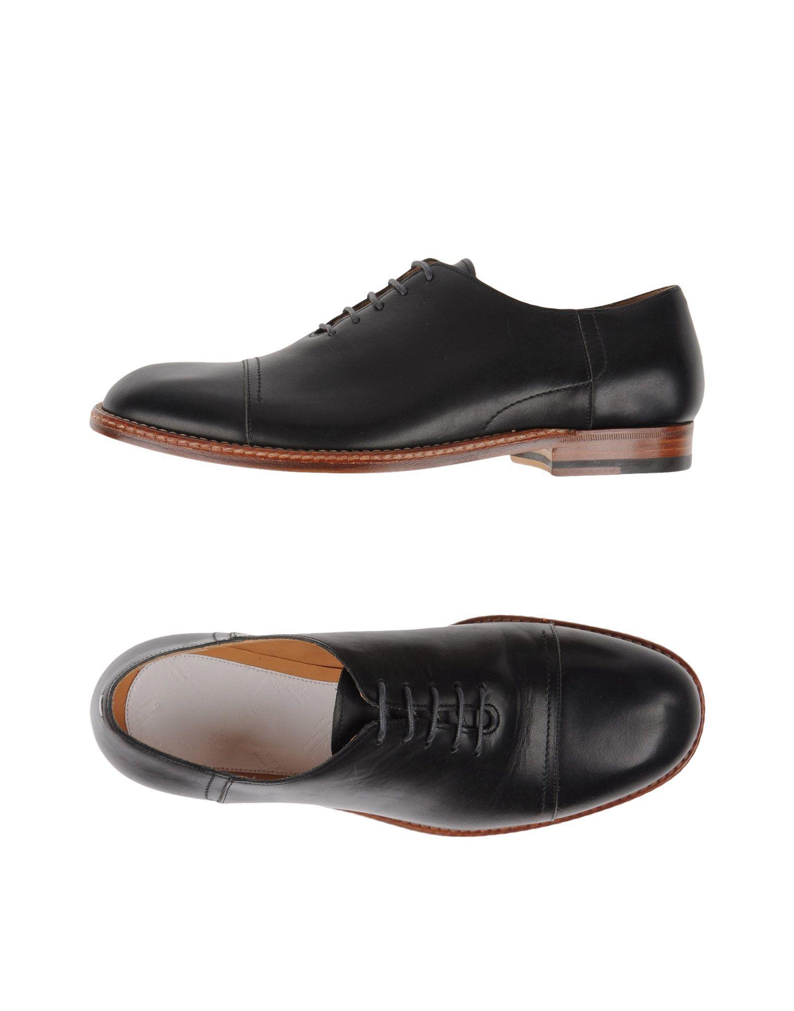 maison margiela lace up shoe in black for men lyst. Black Bedroom Furniture Sets. Home Design Ideas