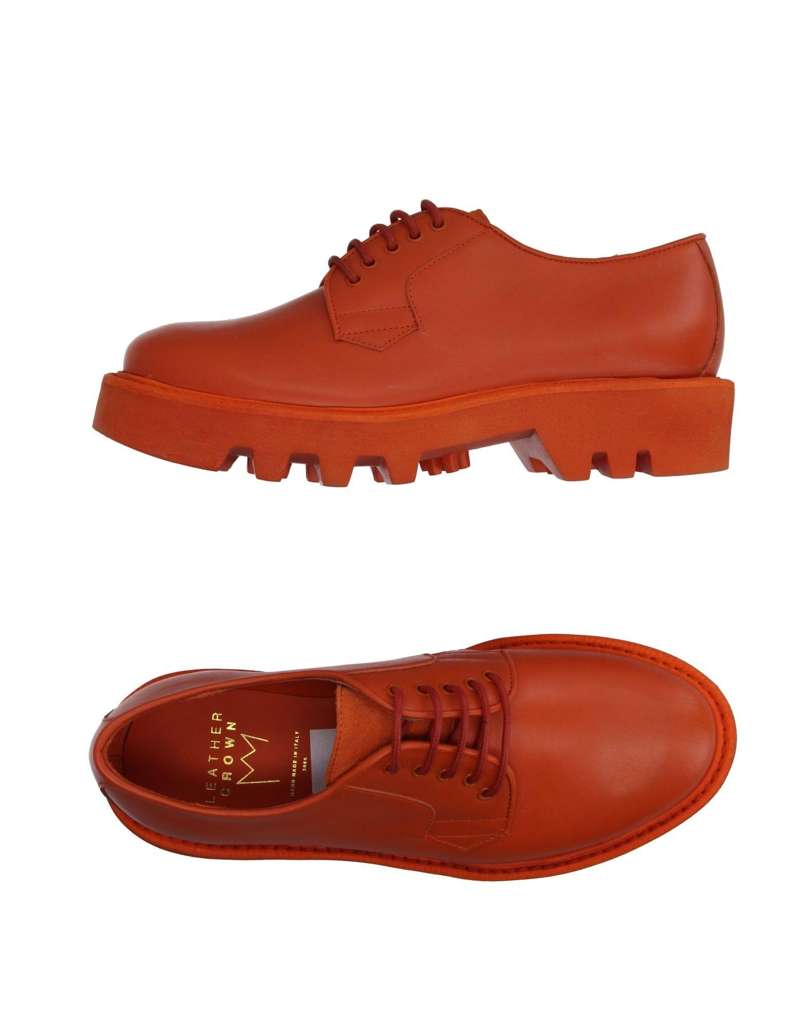 leather crown lace up shoe in orange lyst