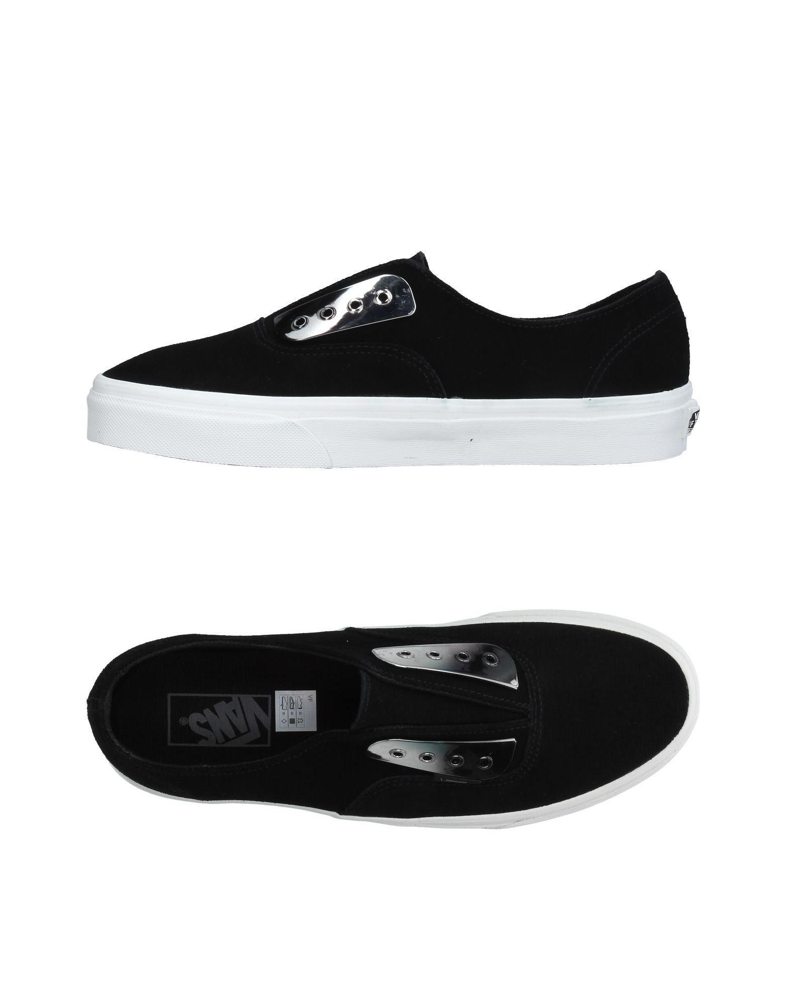 vans low tops sneakers in black for men save 43 lyst. Black Bedroom Furniture Sets. Home Design Ideas