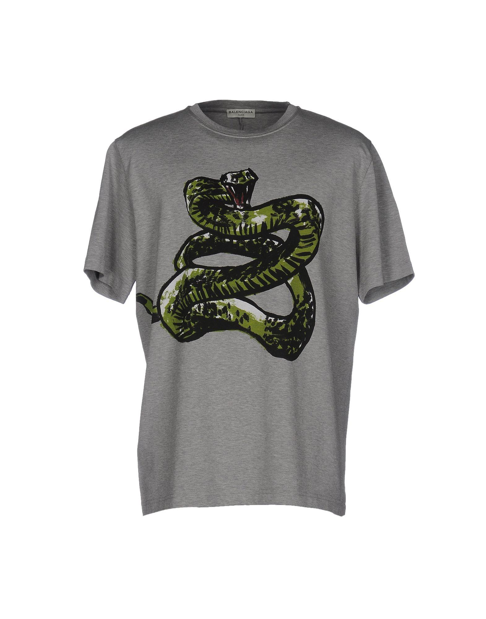 Lyst Balenciaga T Shirt In Gray For Men