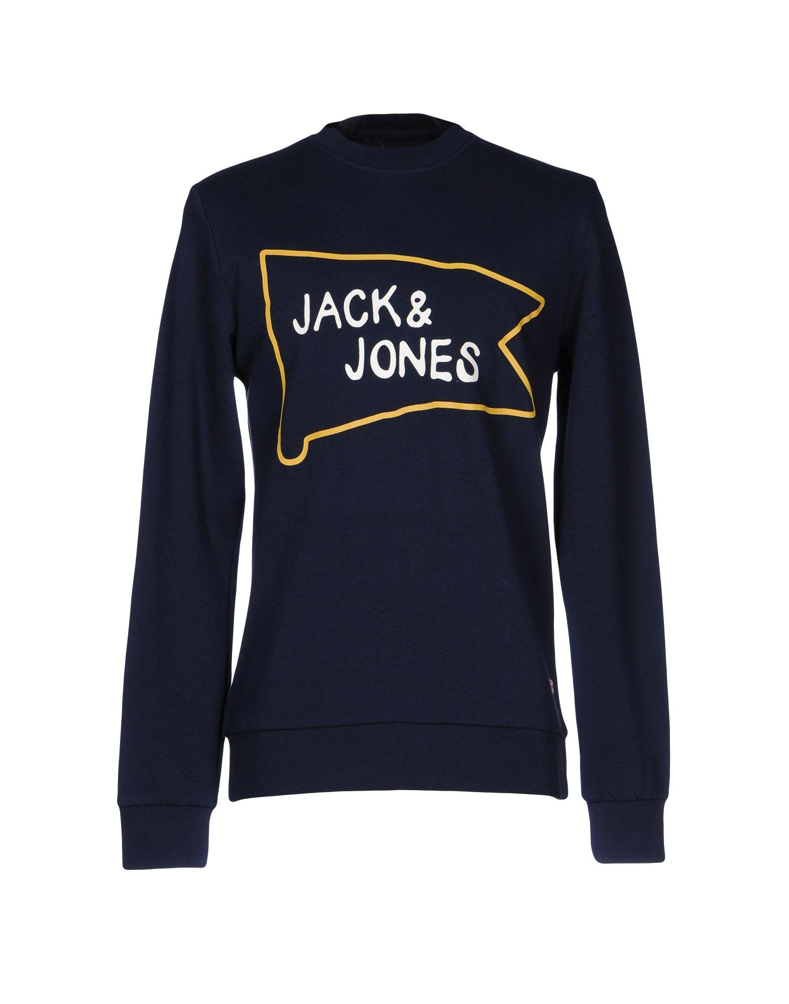 lyst originals by jack jones sweatshirt in blue for men. Black Bedroom Furniture Sets. Home Design Ideas