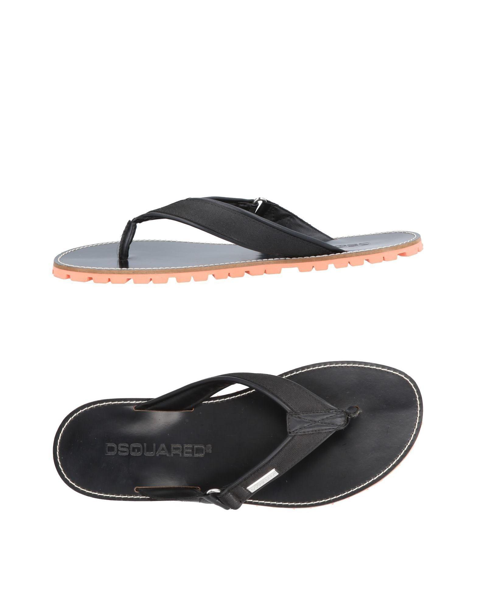 94447f76e Dsquared² Toe Strap Sandal in Black for Men - Lyst