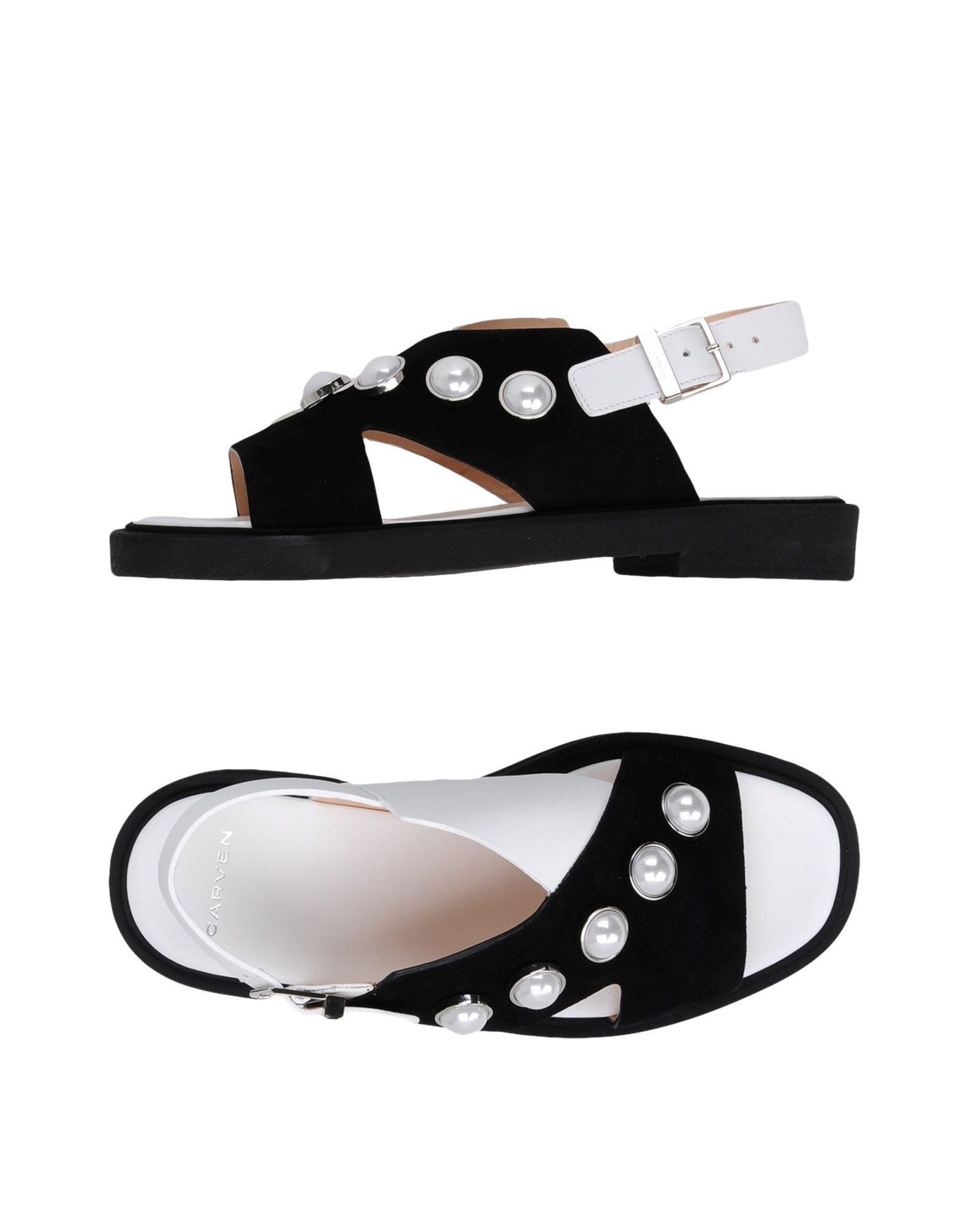 e76c09825 Lyst - Carven Sandals in Black
