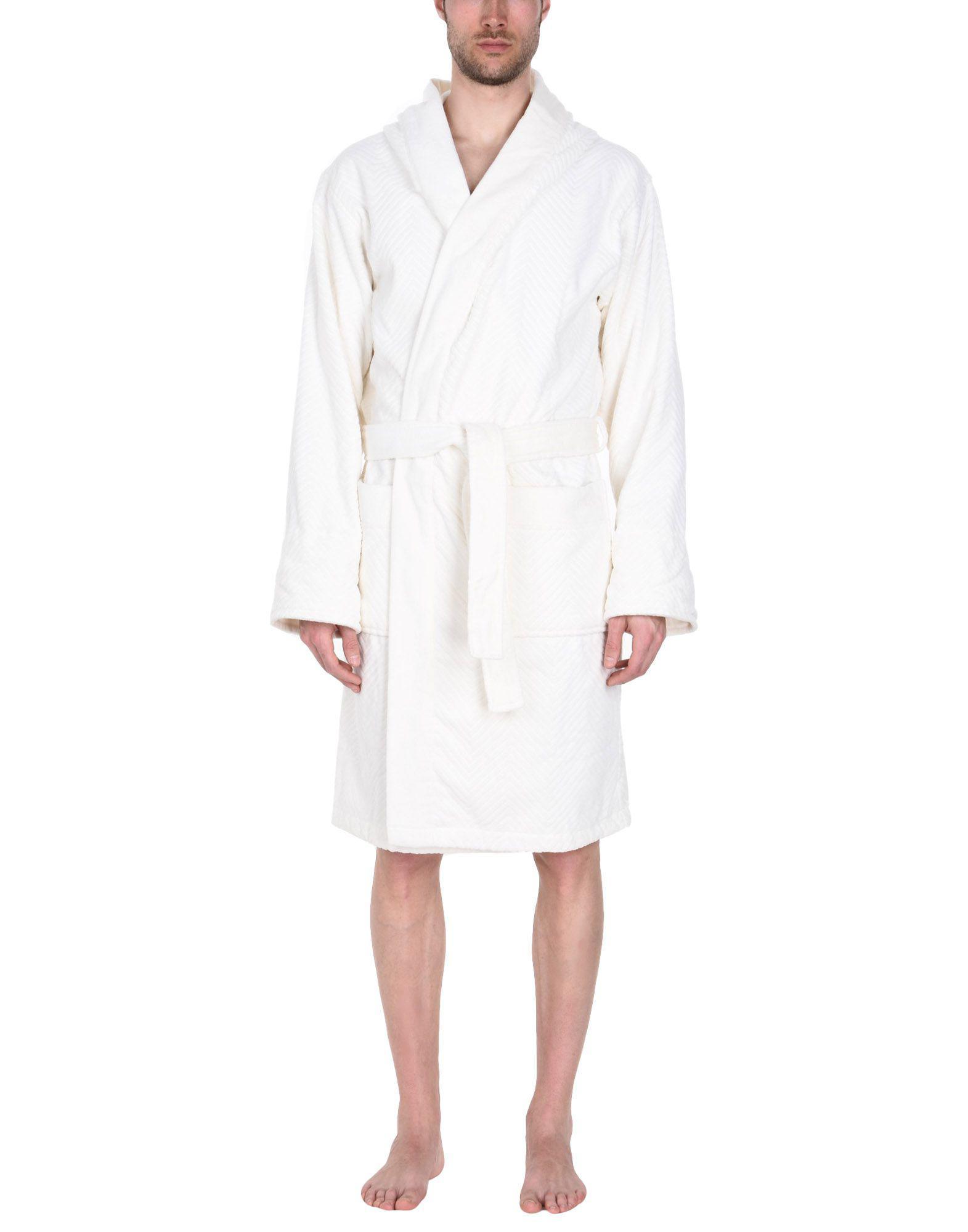 La Perla Towelling Dressing Gown in White for Men - Lyst