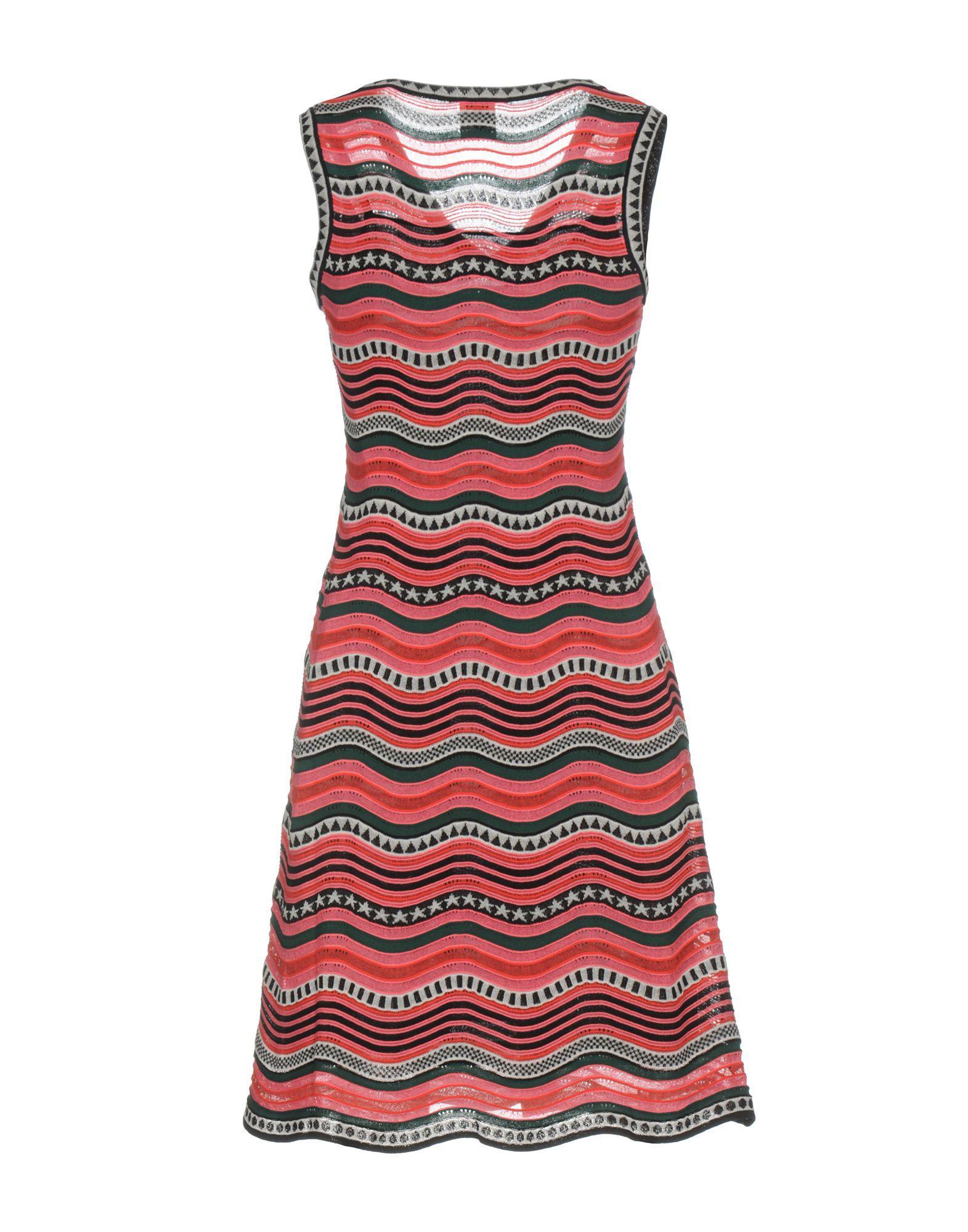 49417d829d8e M Missoni Short Dress in Red - Lyst
