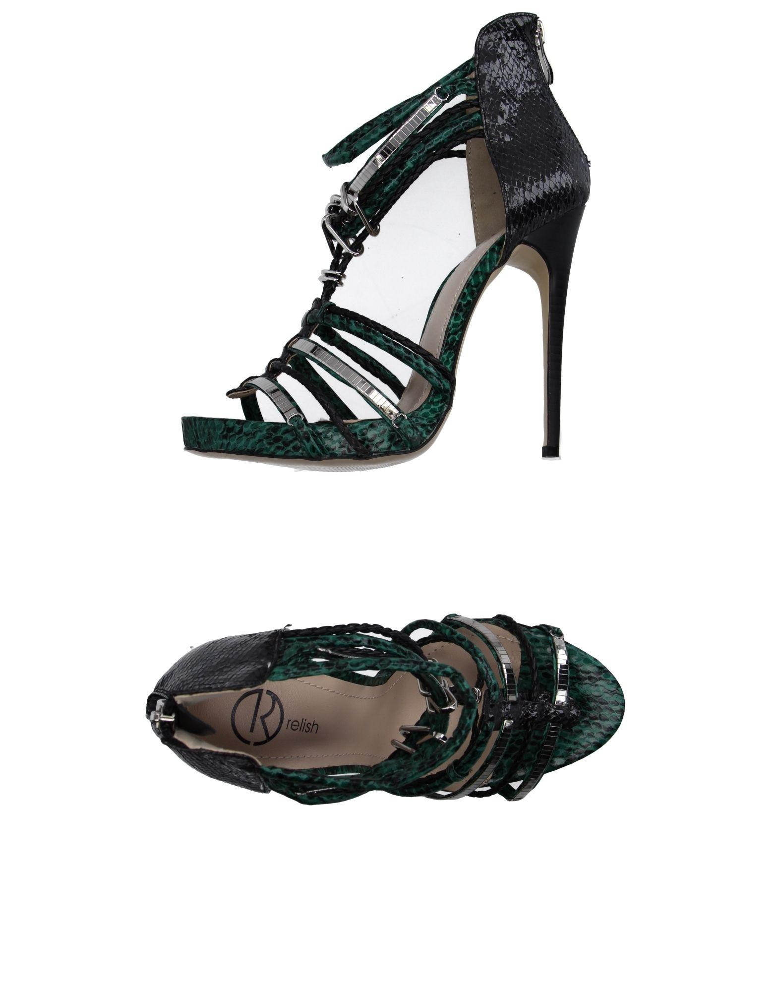RELISH Sandals Emerald green Women