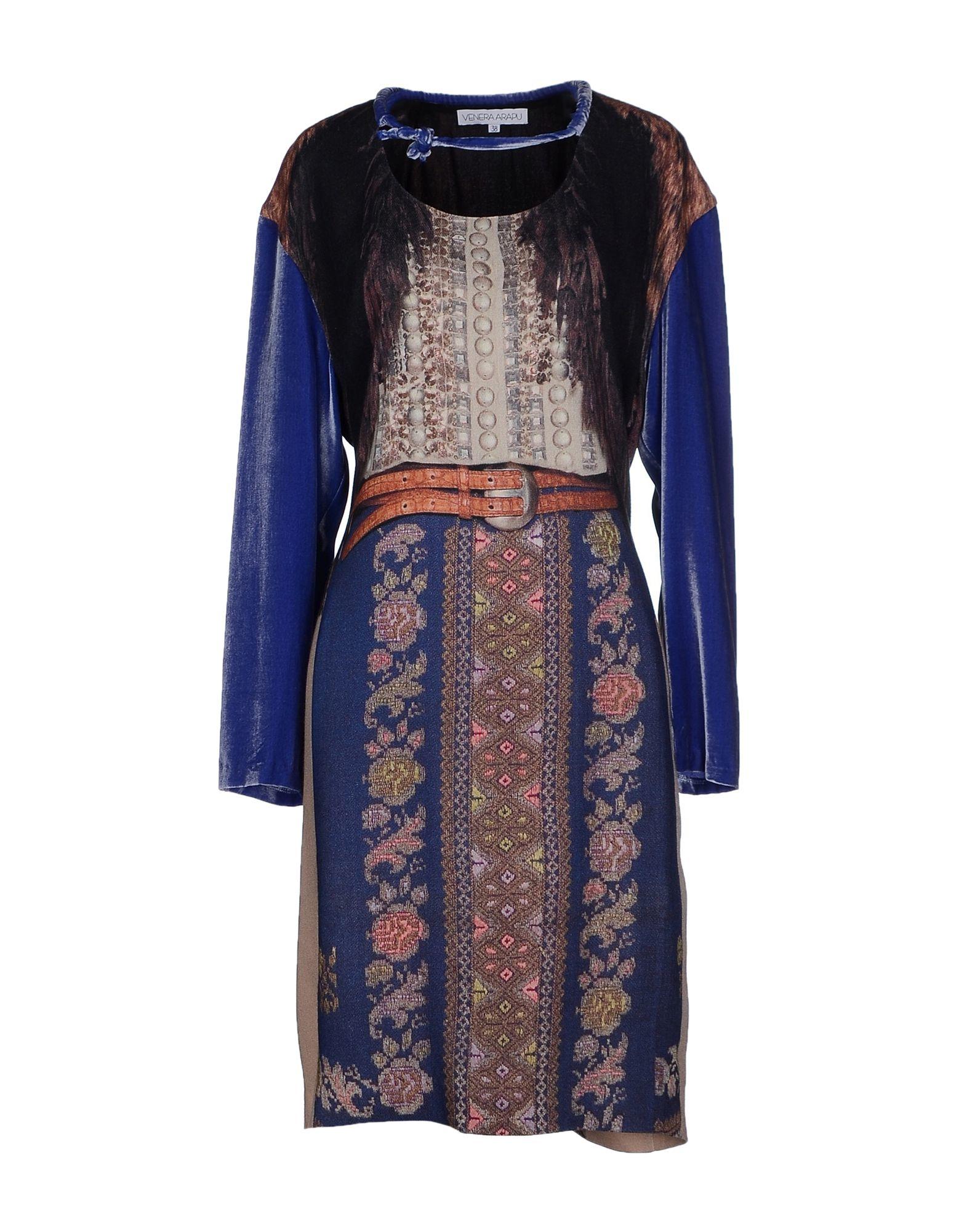 Venera Arapu Short Dress In Blue