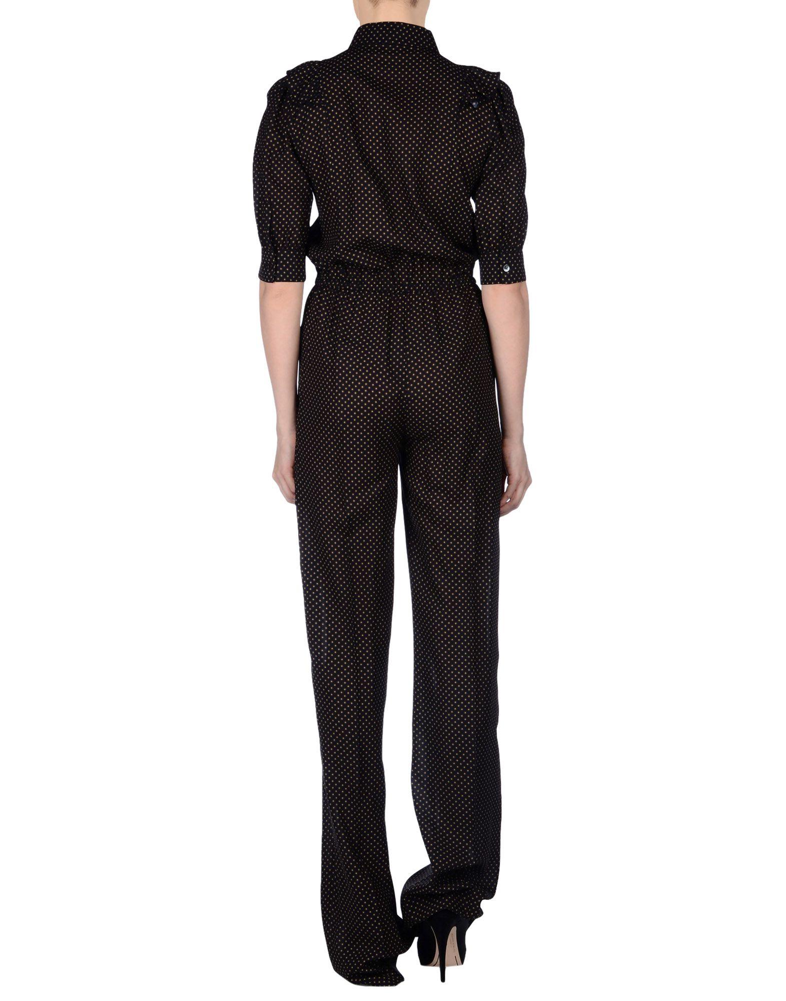 michael kors overalls in black lyst. Black Bedroom Furniture Sets. Home Design Ideas