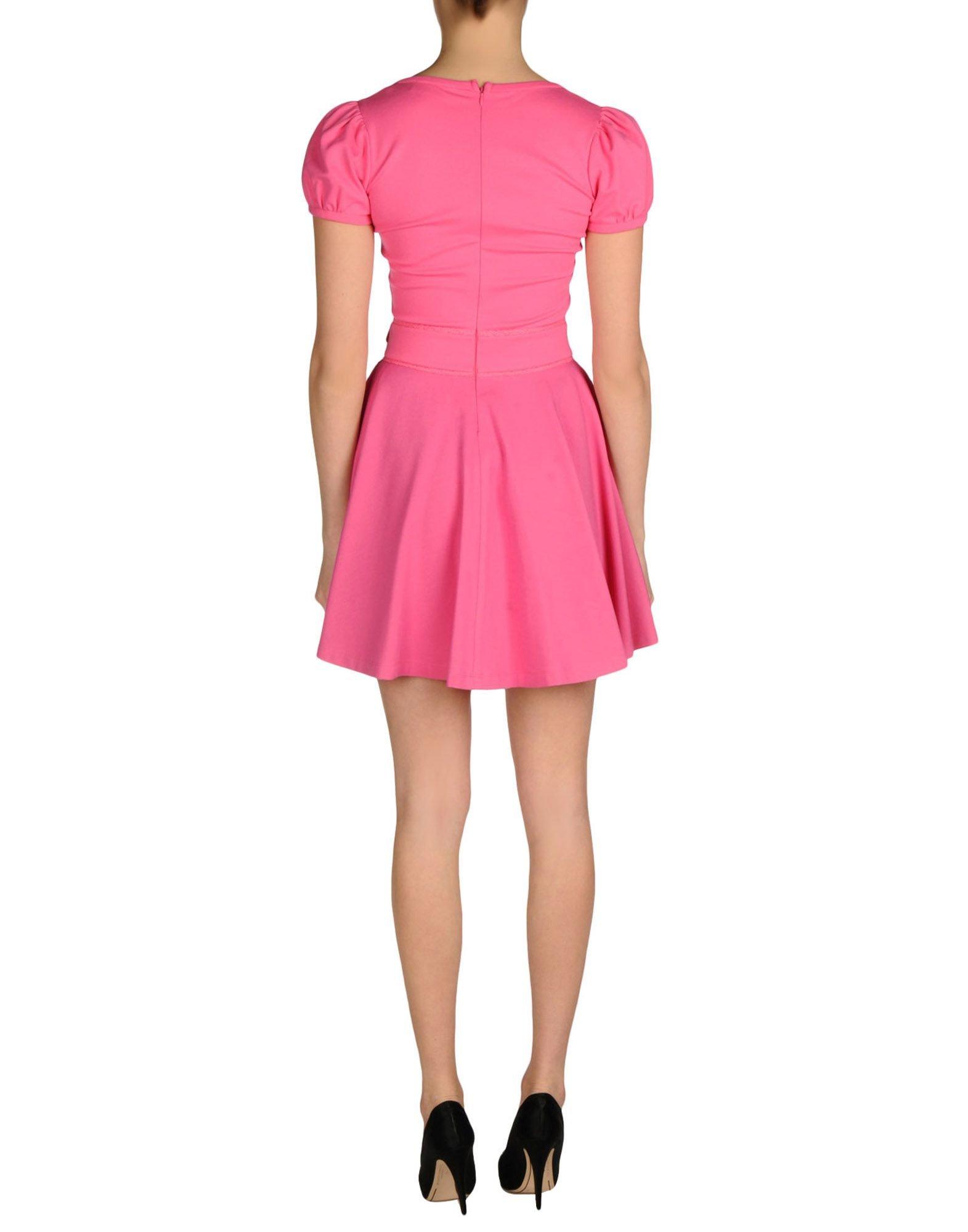 Lyst red valentino short dress in pink for Valentino short wedding dress