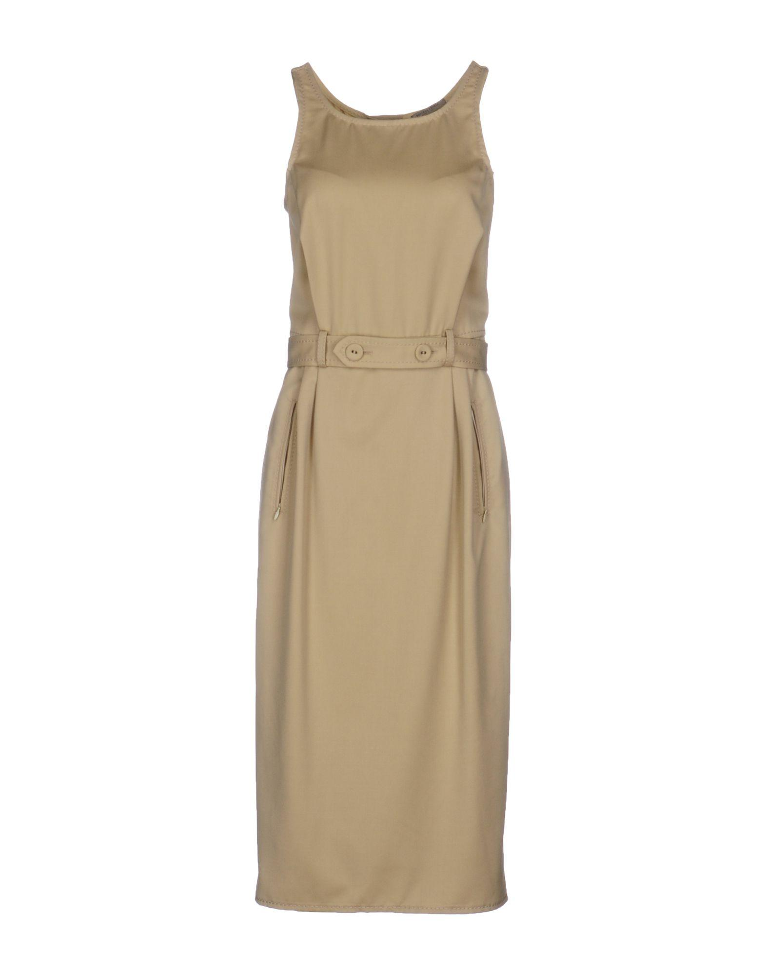 Bottega veneta Knee-length Dress in Natural