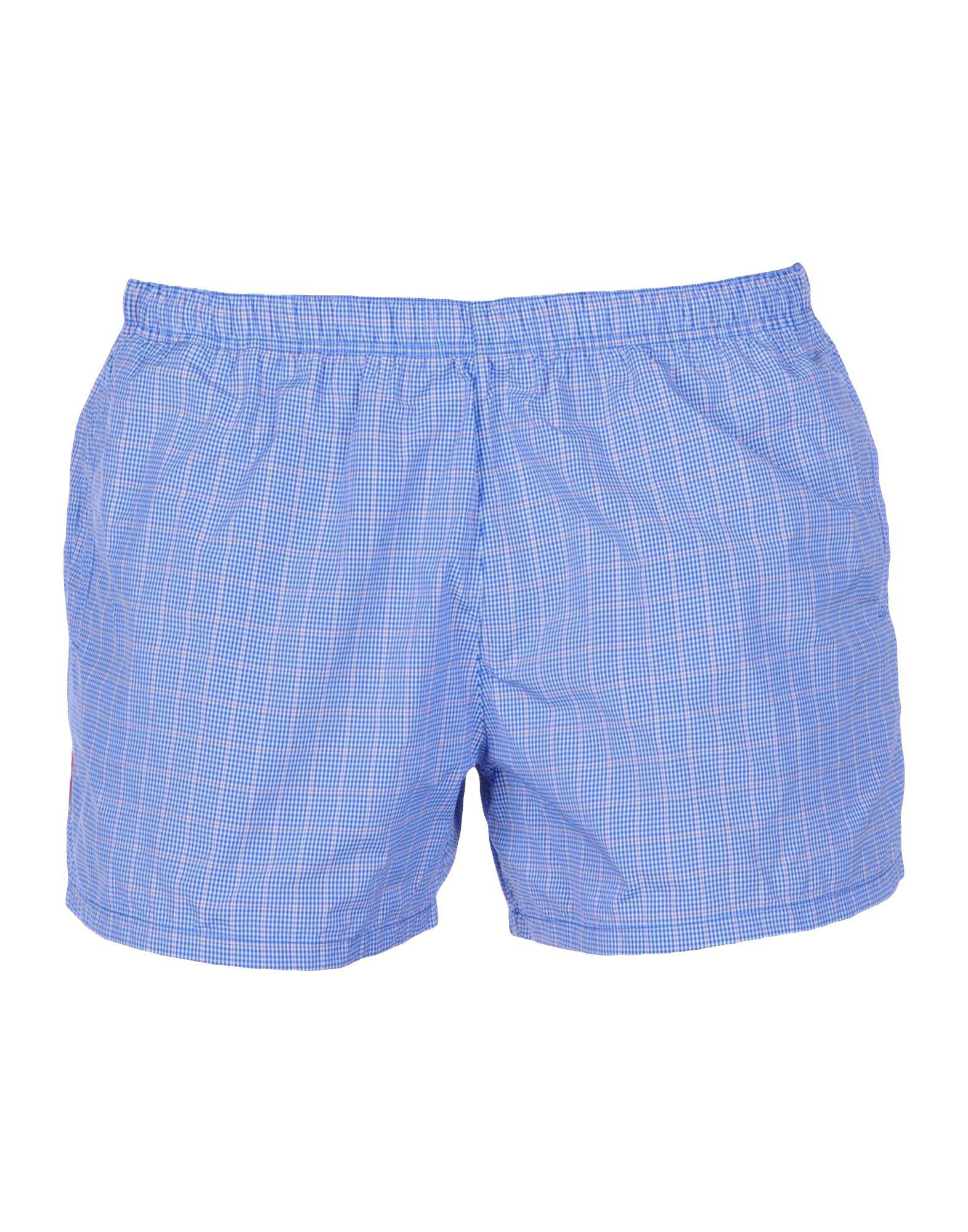 f2f536847f Lyst - Prada Swim Trunks in Blue for Men