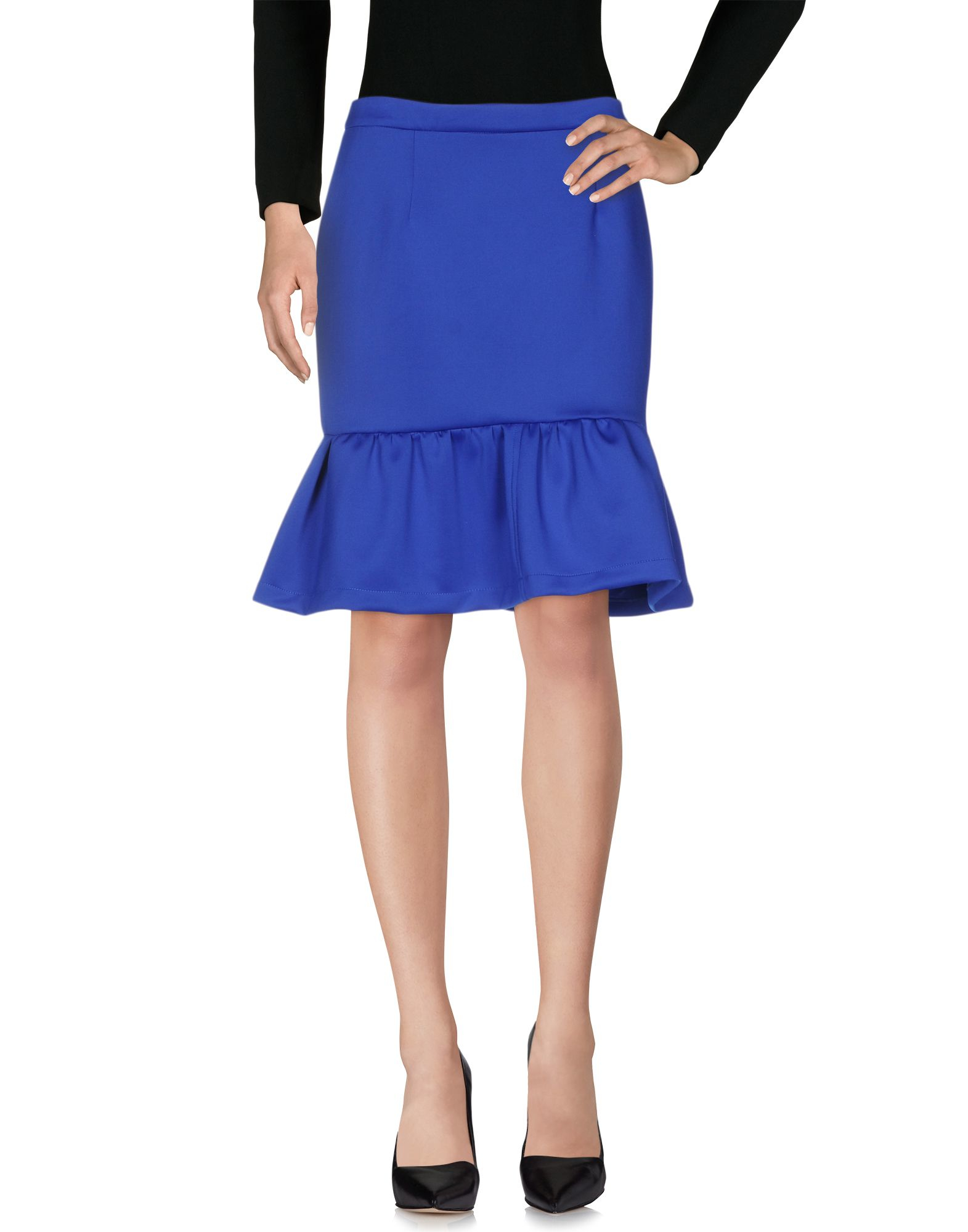 a pois knee length skirt in blue bright blue lyst