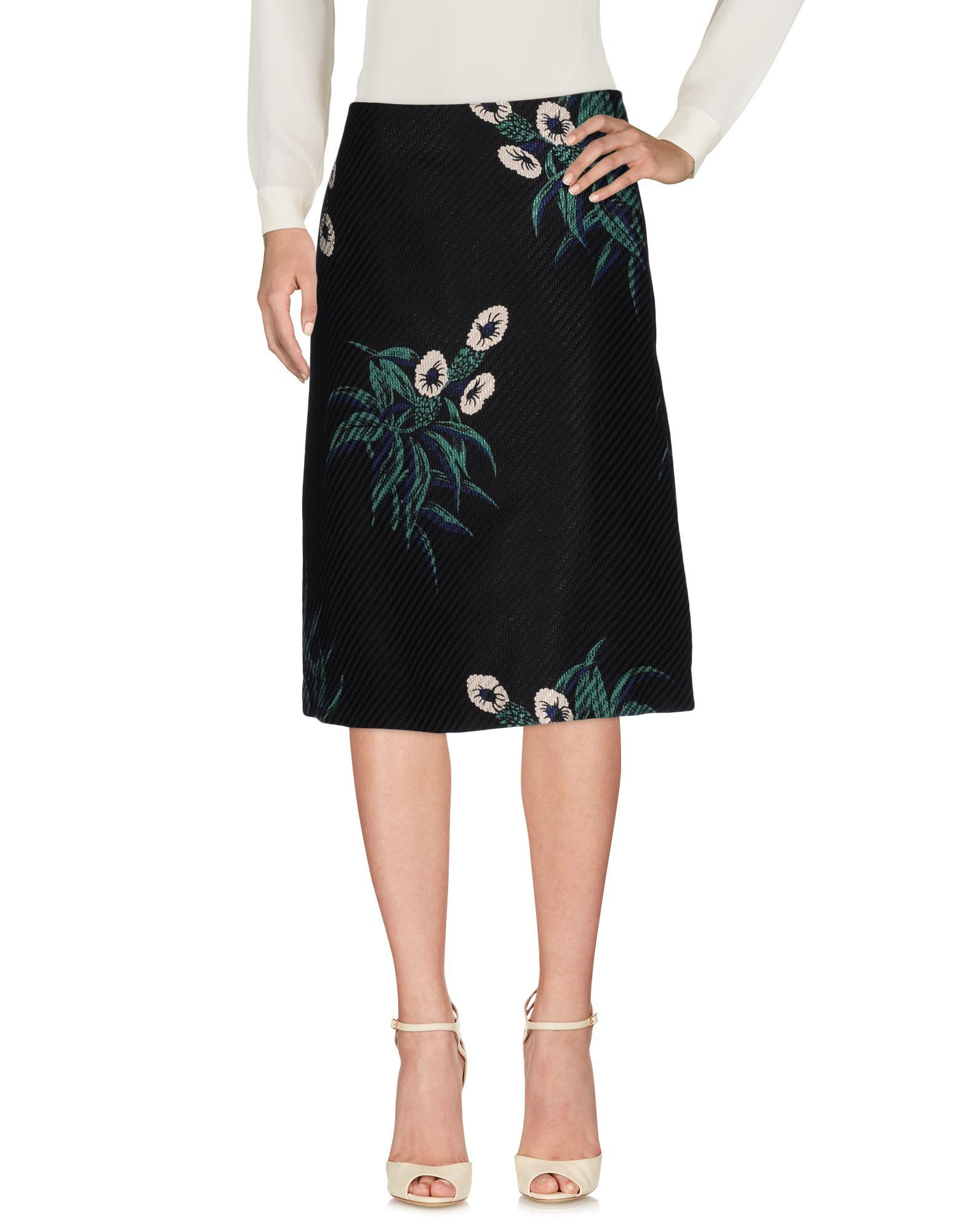 River Island Black Floral Printed Skirt