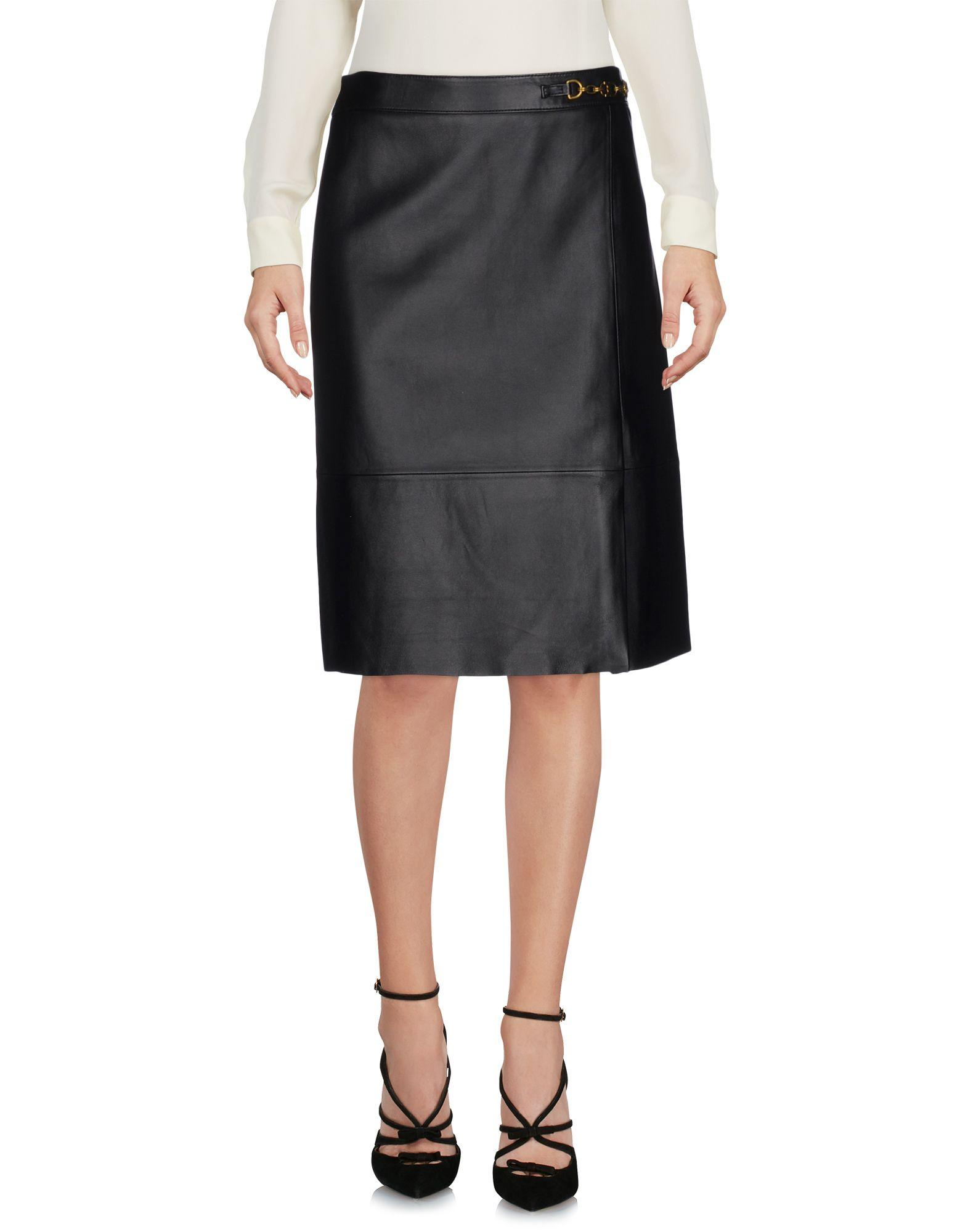 Lyst tory burch knee length skirt in black for Tory burch fashion island