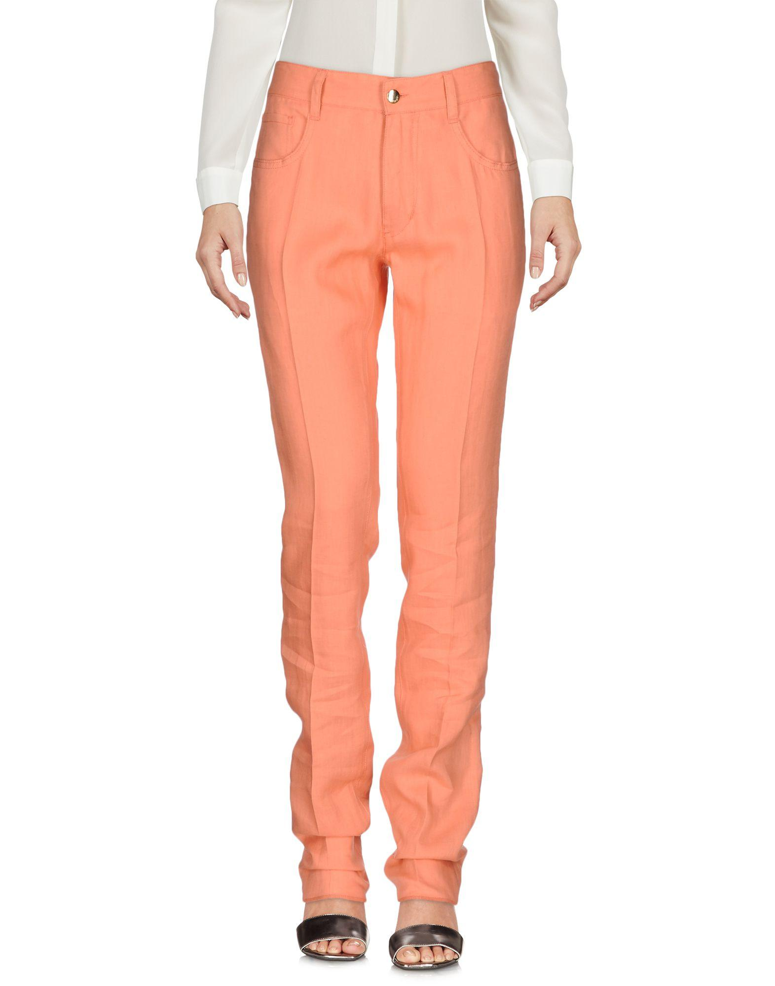 Beautiful  Pakistan Orange Cotton Cigarette Pants For Women  RCPAPantCgtO