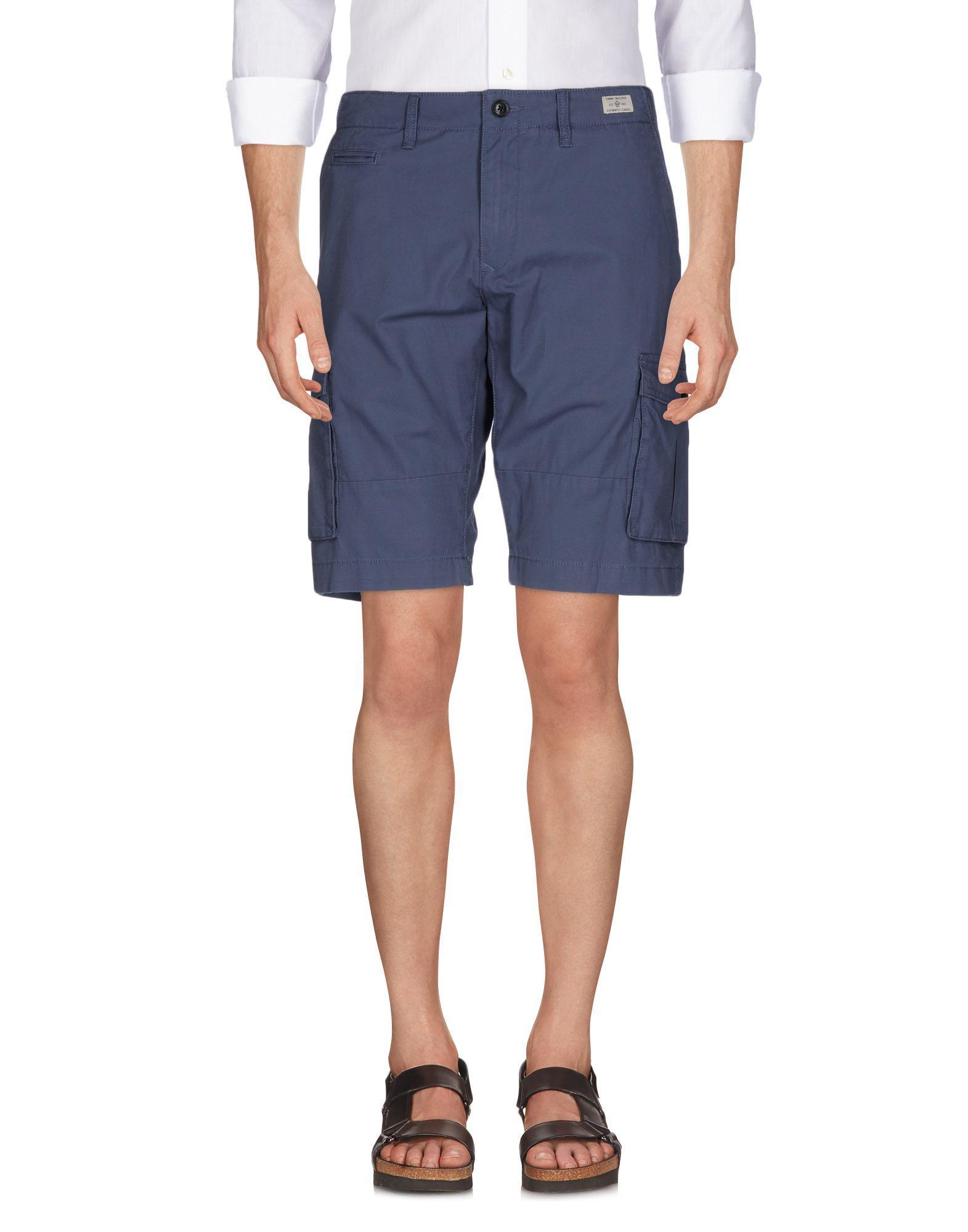 lyst tommy hilfiger bermuda shorts in blue for men. Black Bedroom Furniture Sets. Home Design Ideas