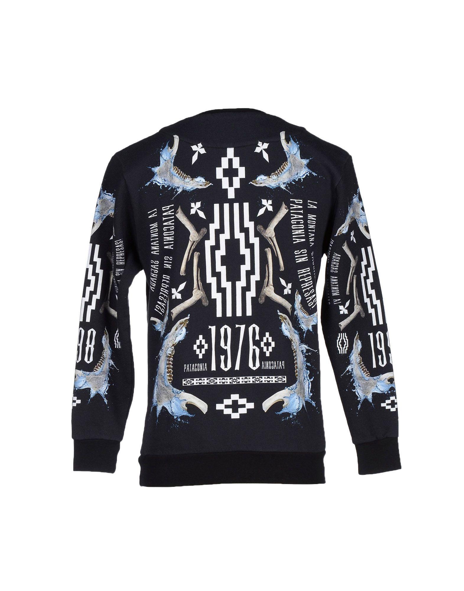 marcelo burlon sweatshirt in blue for men lyst. Black Bedroom Furniture Sets. Home Design Ideas