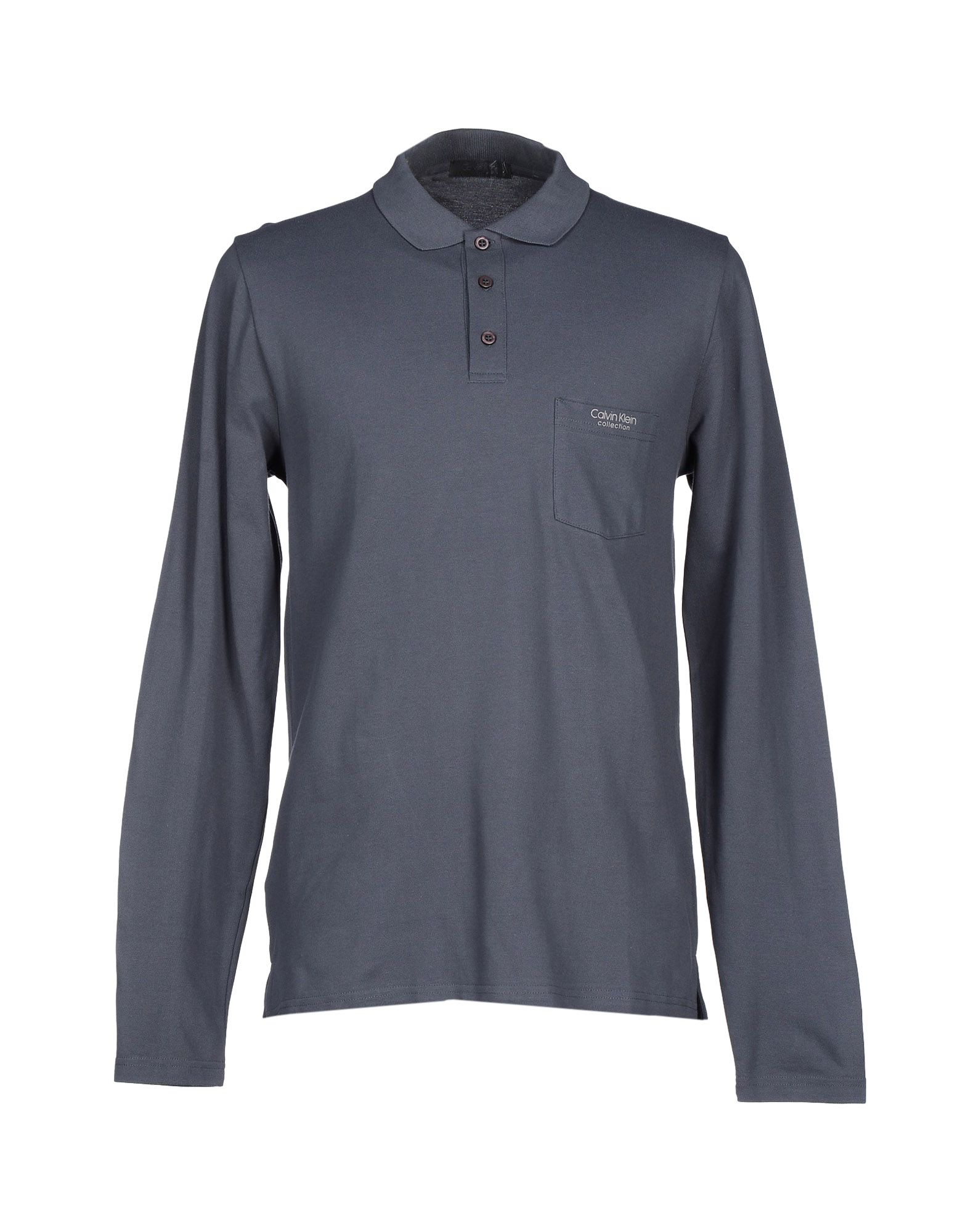 Calvin klein polo shirt in blue for men lyst for Bear river workwear shirts
